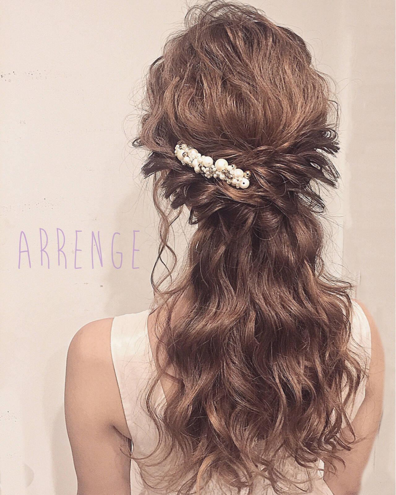 花嫁 ポニーテール 上品 ロングヘアスタイルや髪型の写真・画像