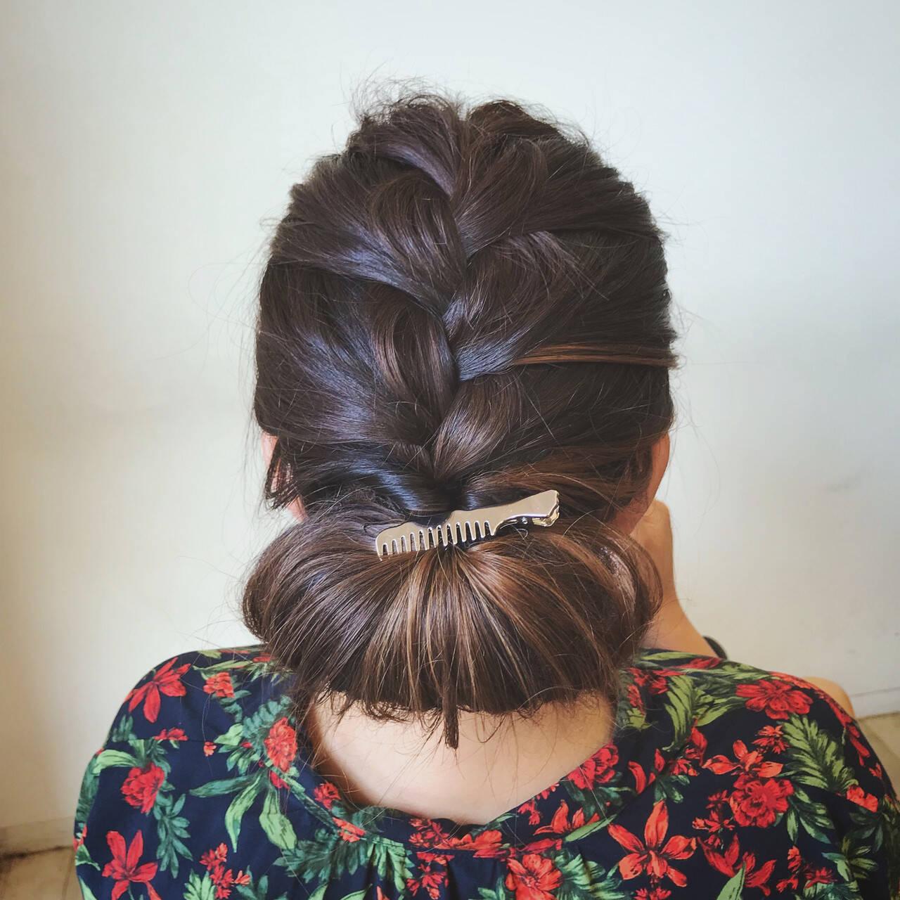 大人可愛い セミロング 結婚式 エレガントヘアスタイルや髪型の写真・画像