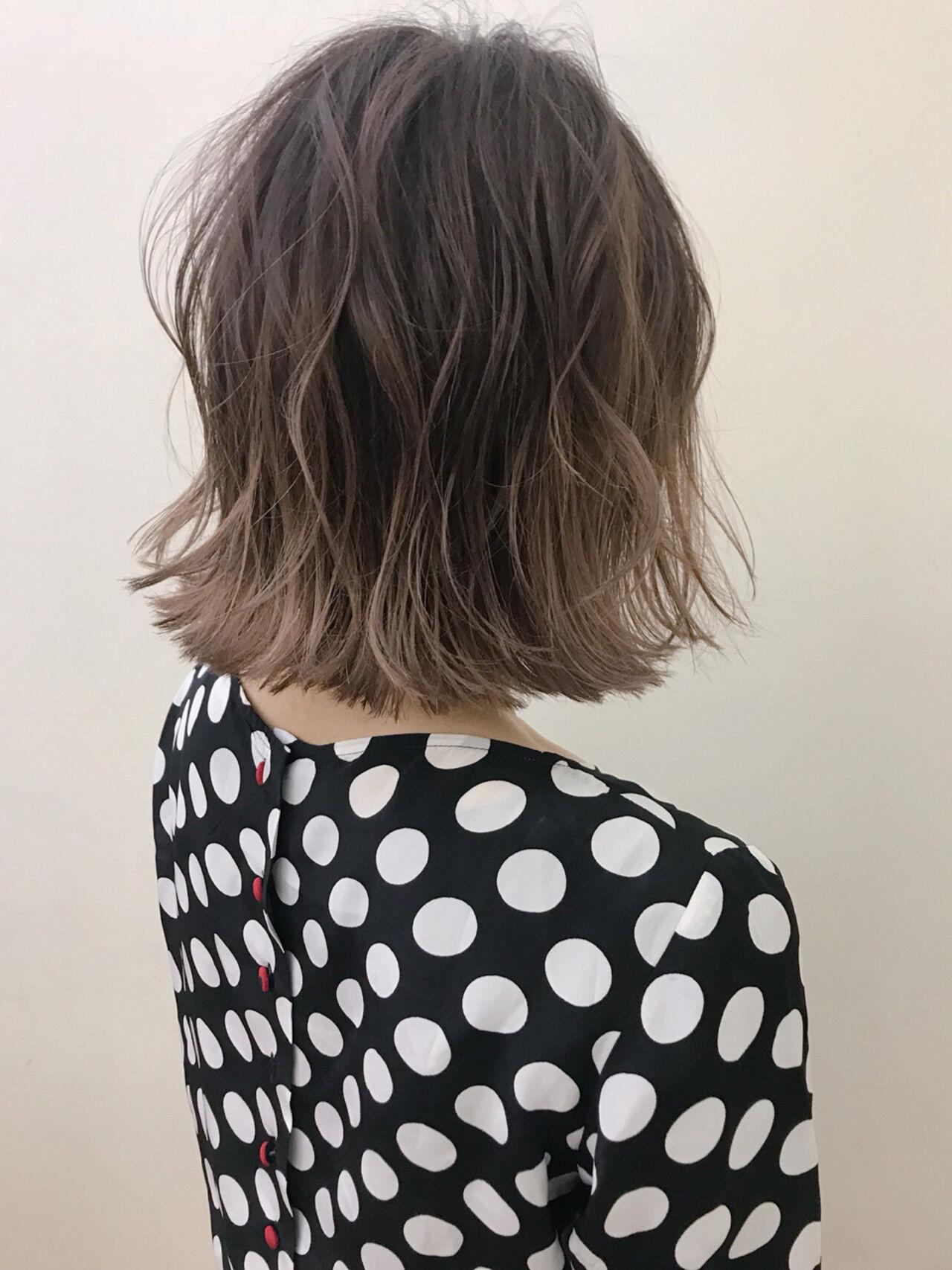 大人かわいい デート ロブ ハイライトヘアスタイルや髪型の写真・画像
