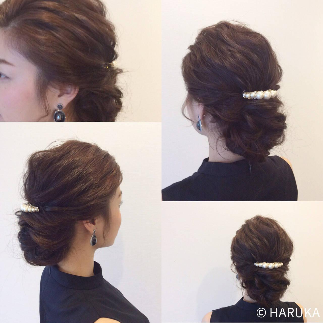 上品 大人かわいい 簡単ヘアアレンジ ヘアアレンジヘアスタイルや髪型の写真・画像