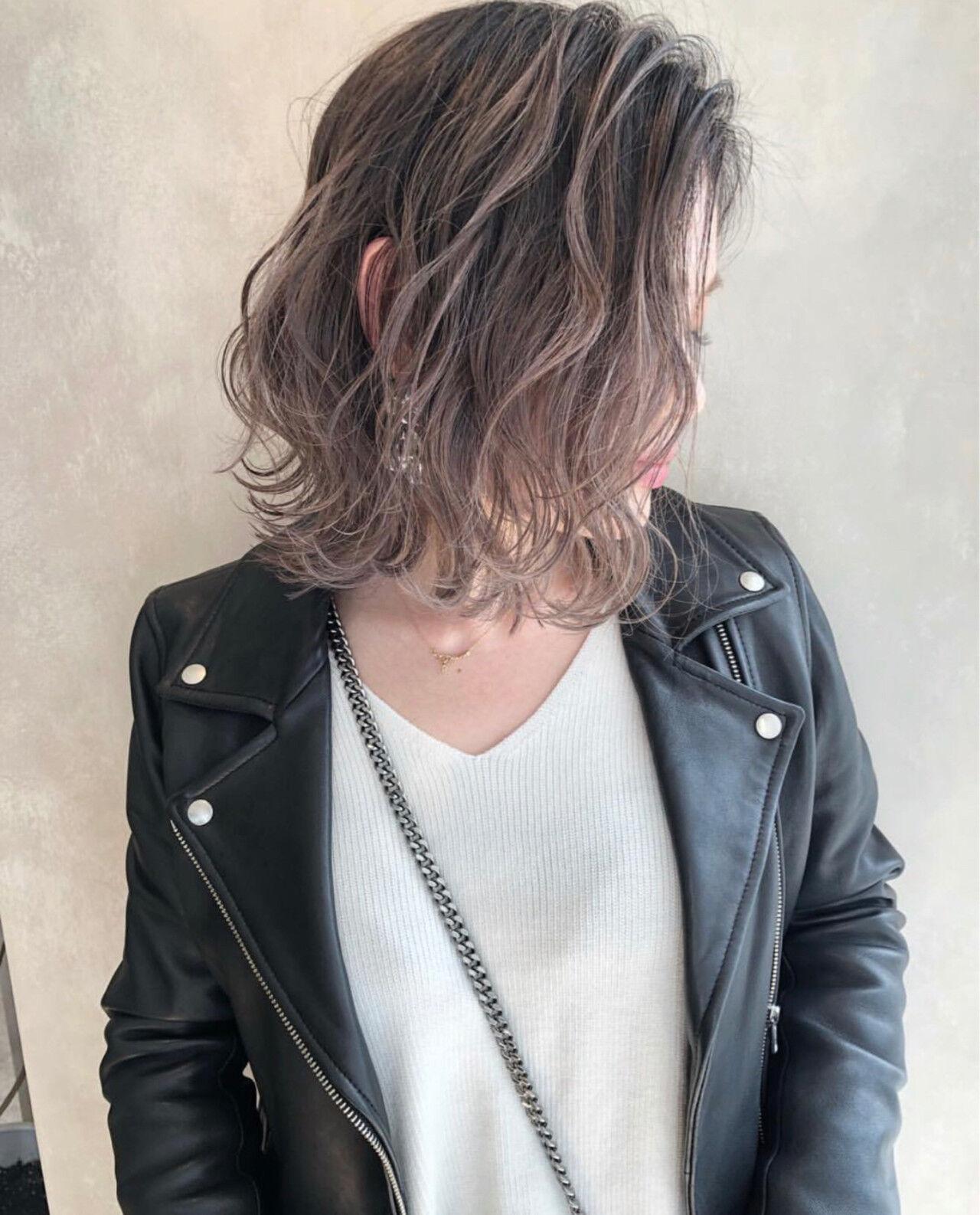 ストリート 外国人風 ボブ ハイライトヘアスタイルや髪型の写真・画像