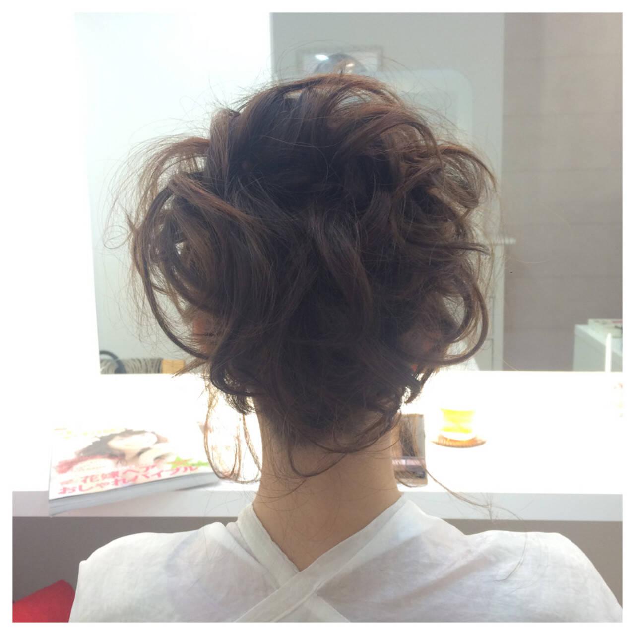 結婚式 ヘアアレンジ ショート 簡単ヘアアレンジヘアスタイルや髪型の写真・画像