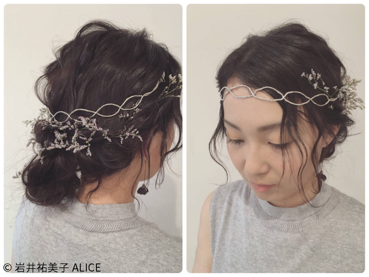 カチューシャ ロング 外国人風 結婚式ヘアスタイルや髪型の写真・画像
