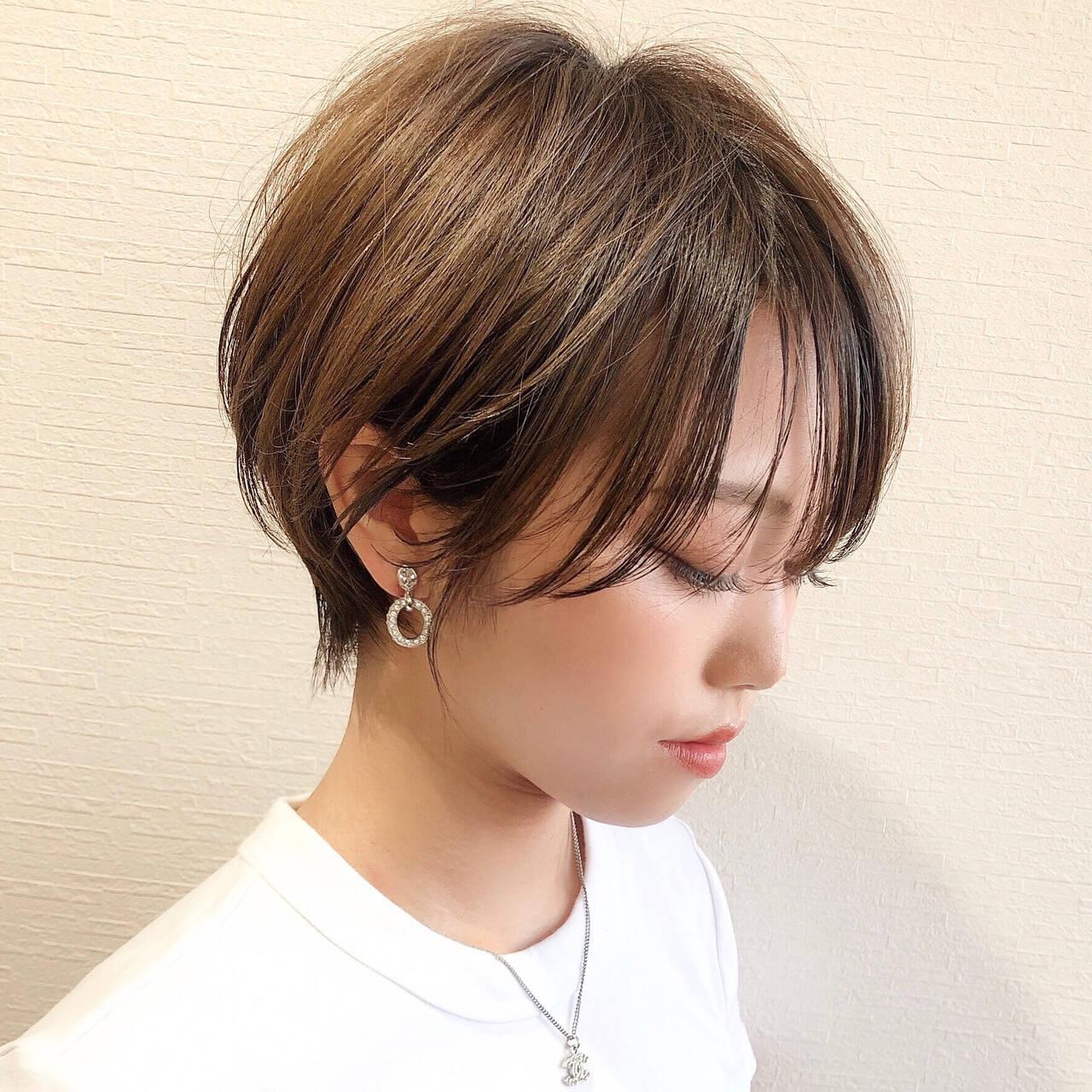 ショート ショートカット ショートヘア マッシュショートヘアスタイルや髪型の写真・画像