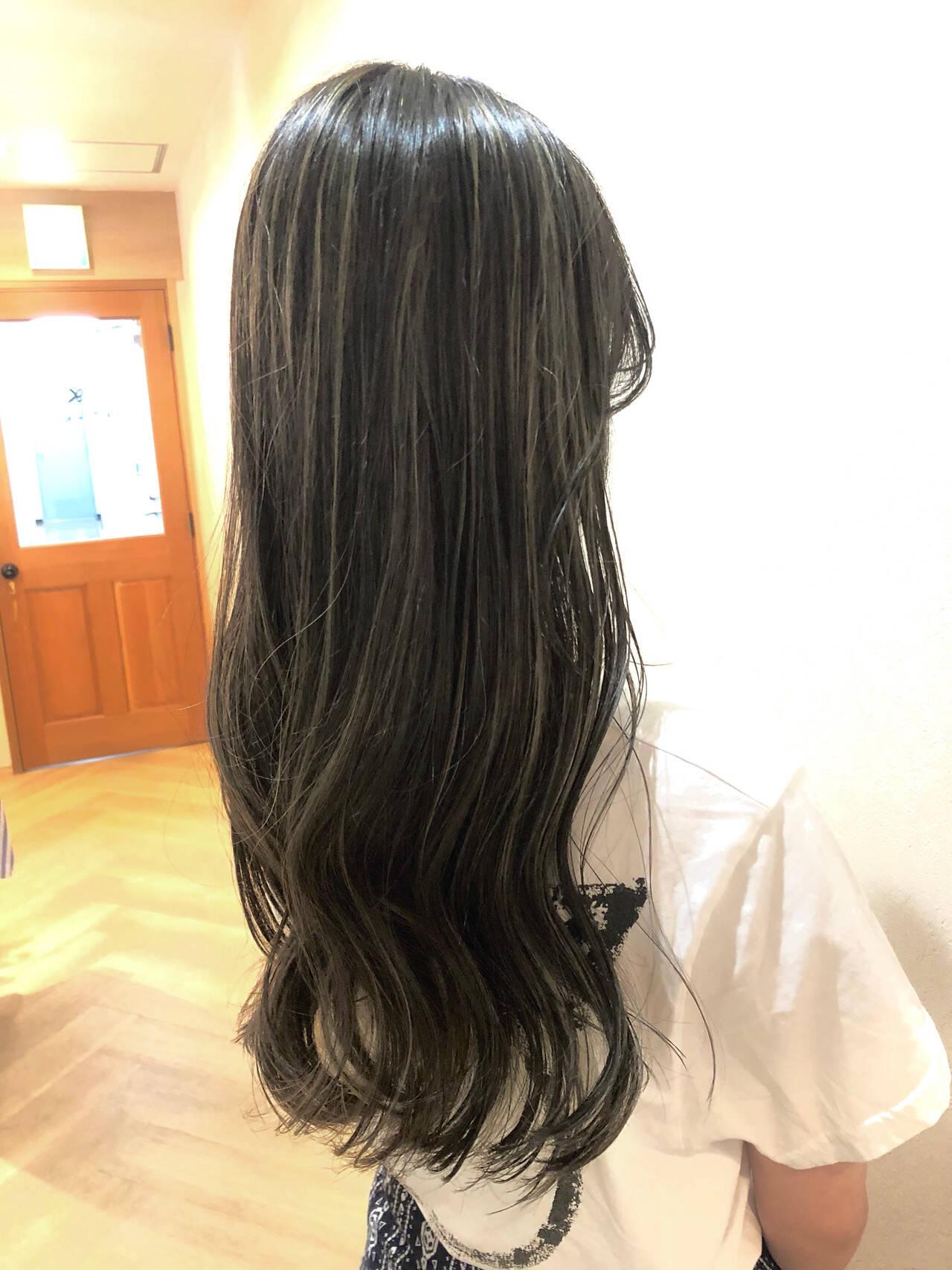 ハイライト ホワイトハイライト ナチュラル 外国人風ヘアスタイルや髪型の写真・画像
