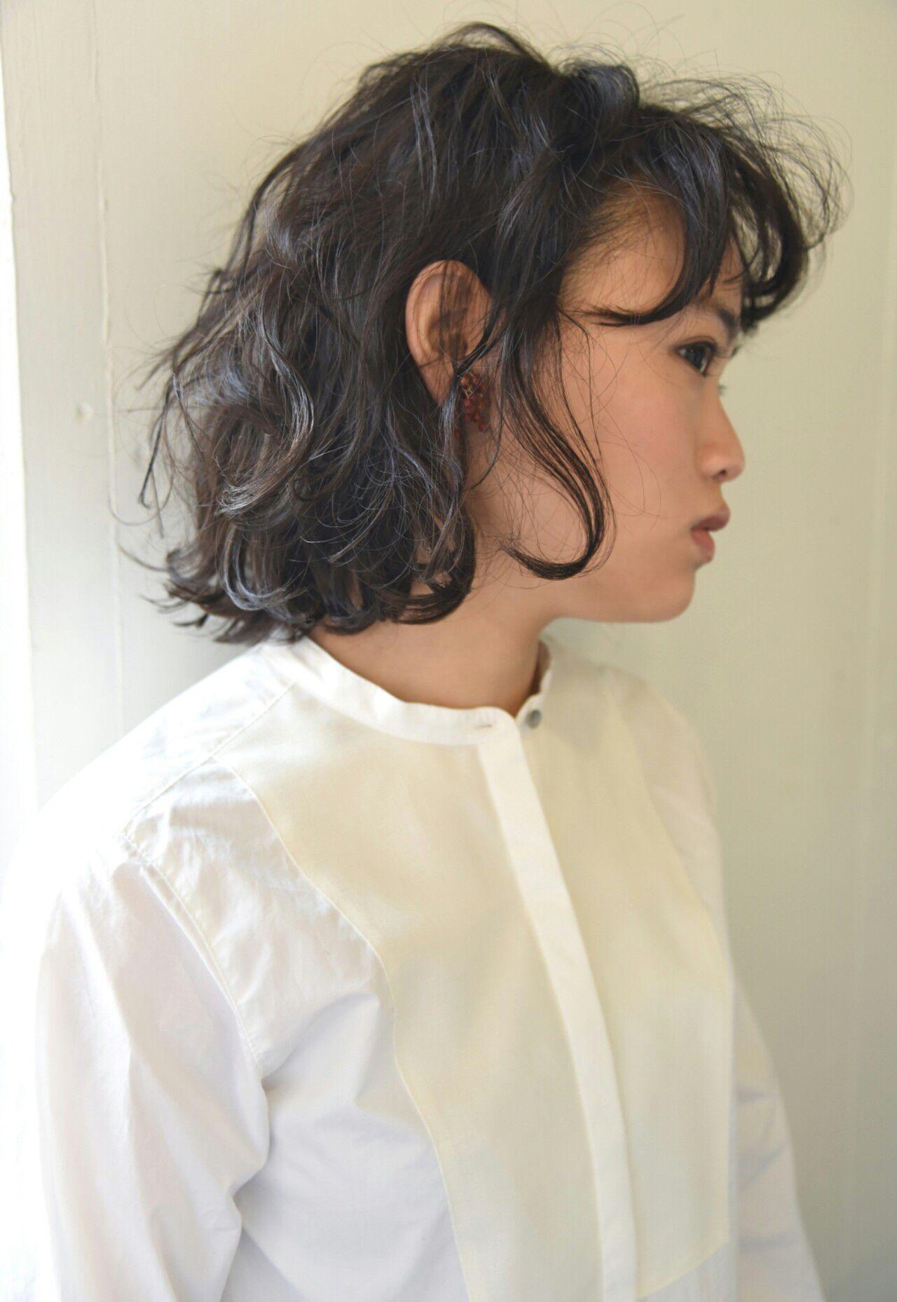 ボブ 外国人風 パーマ 前髪ありヘアスタイルや髪型の写真・画像