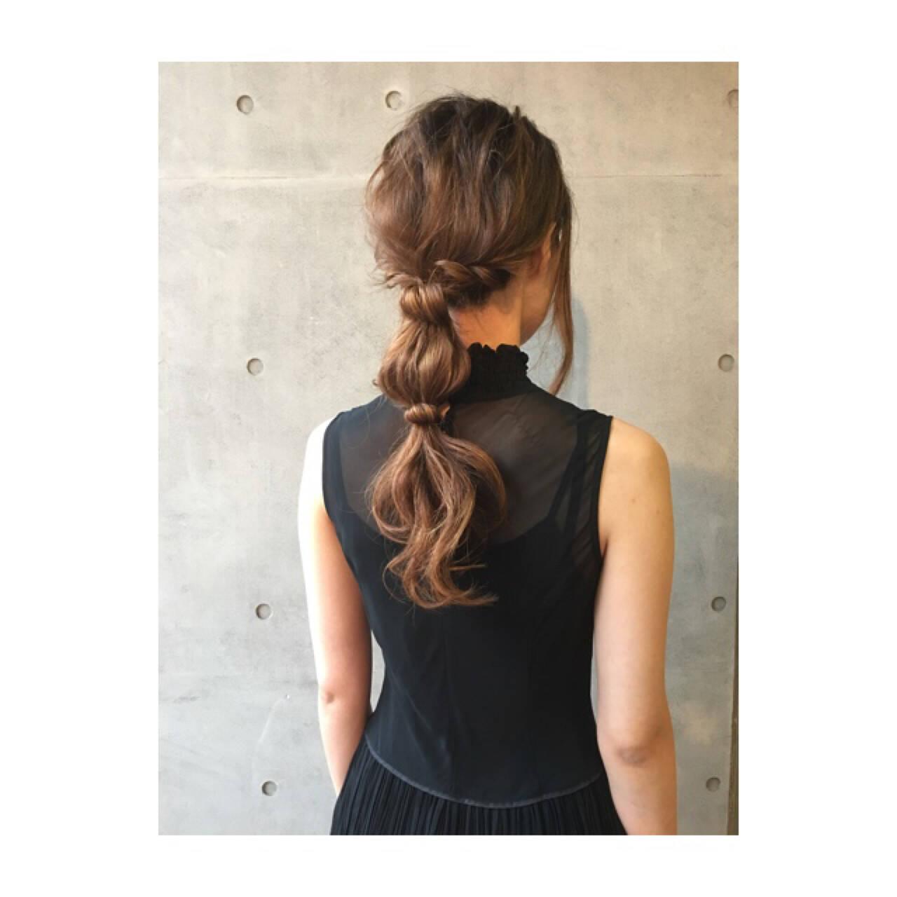 結婚式 ロング フェミニン ヘアアレンジヘアスタイルや髪型の写真・画像