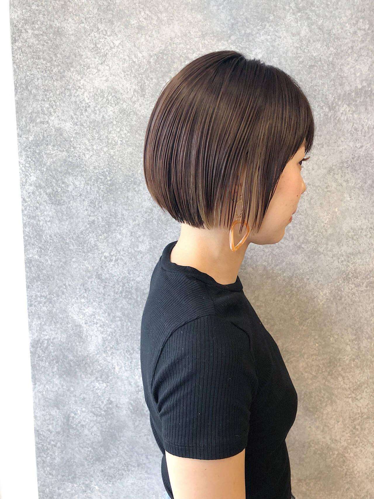 ナチュラル 簡単ヘアアレンジ 小顔 ボブヘアスタイルや髪型の写真・画像