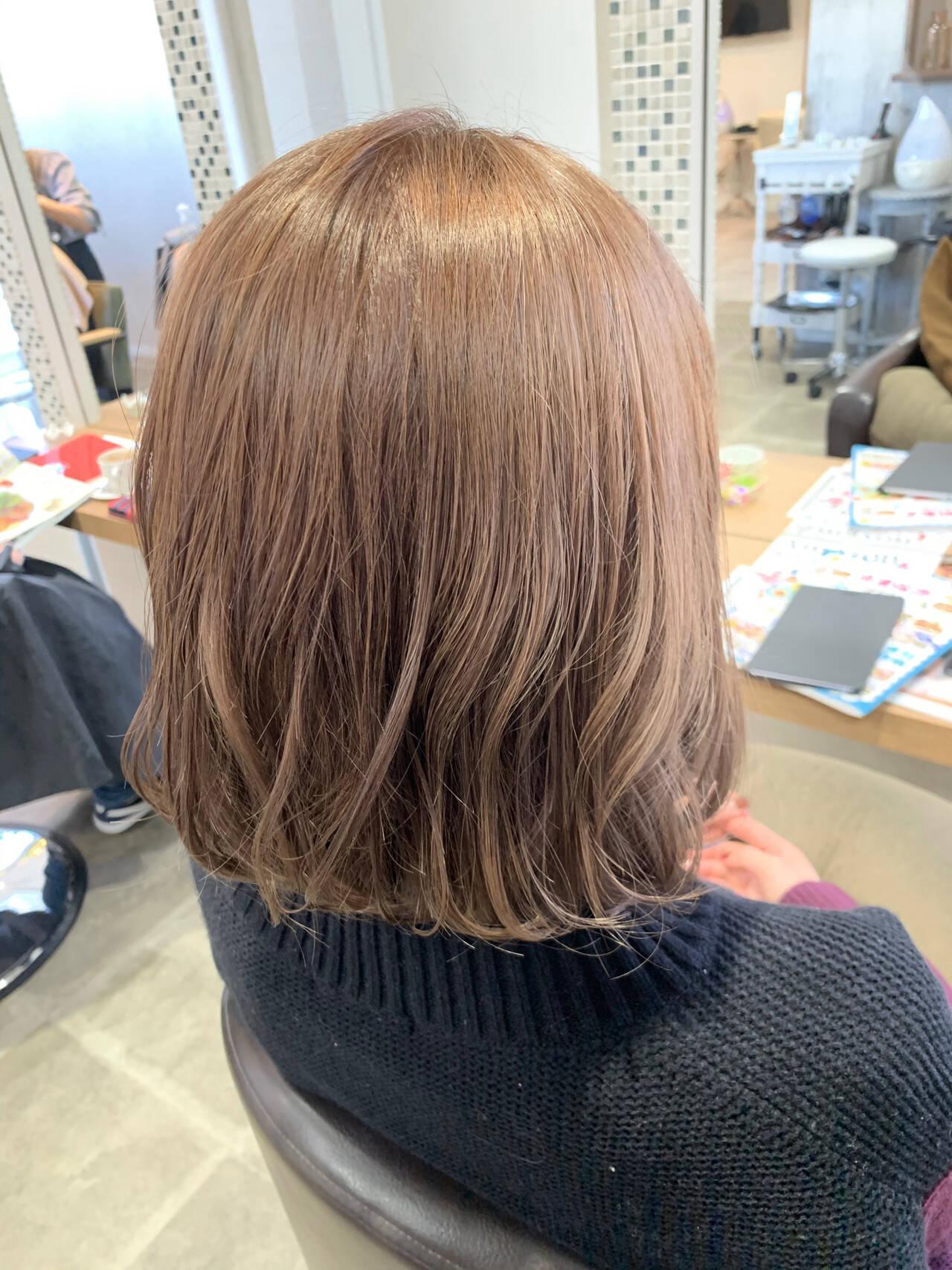 フェミニン 透け感 ボブ ふんわりヘアスタイルや髪型の写真・画像