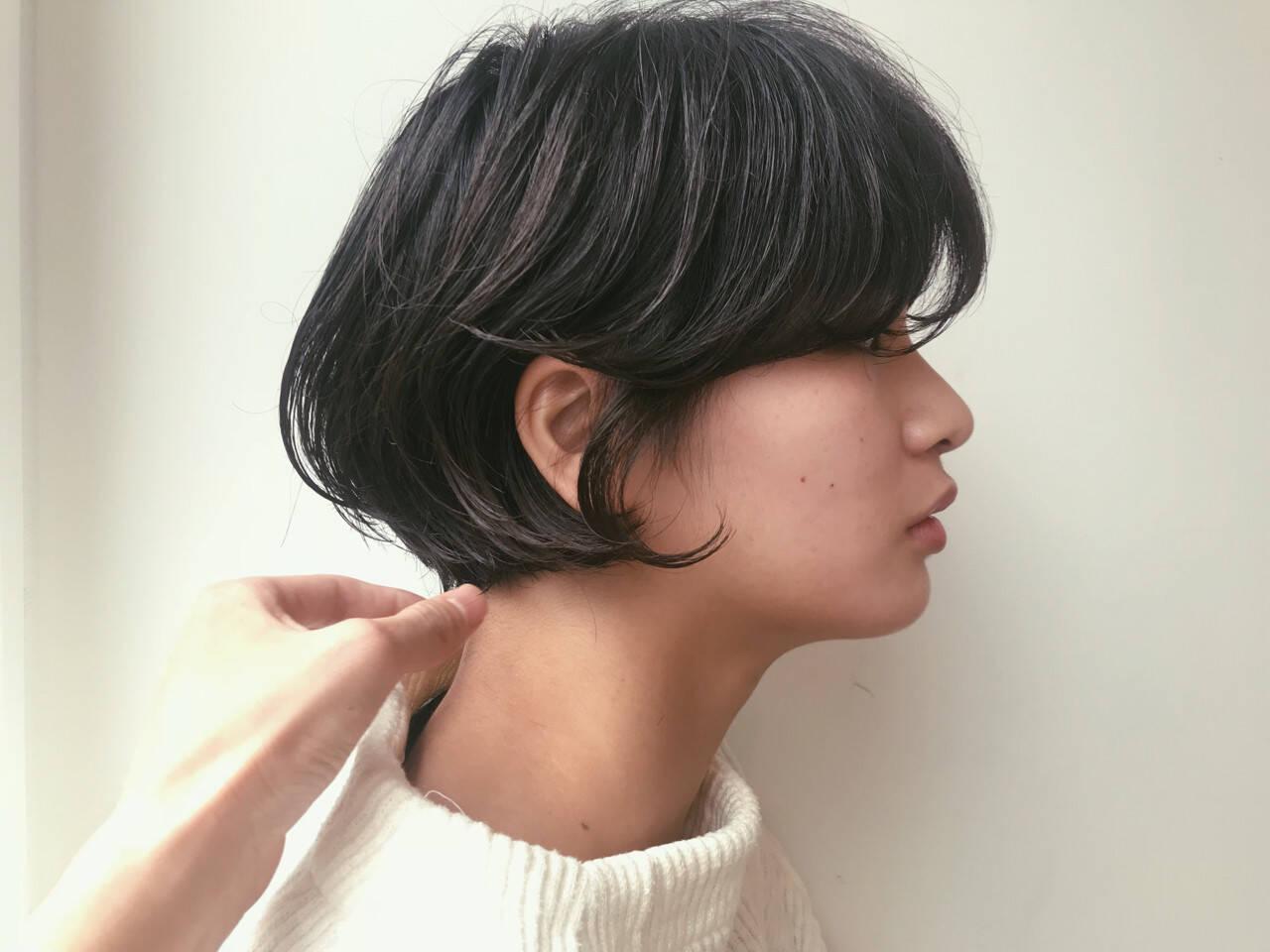 黒髪 ショートボブ ボブ ショートヘアスタイルや髪型の写真・画像