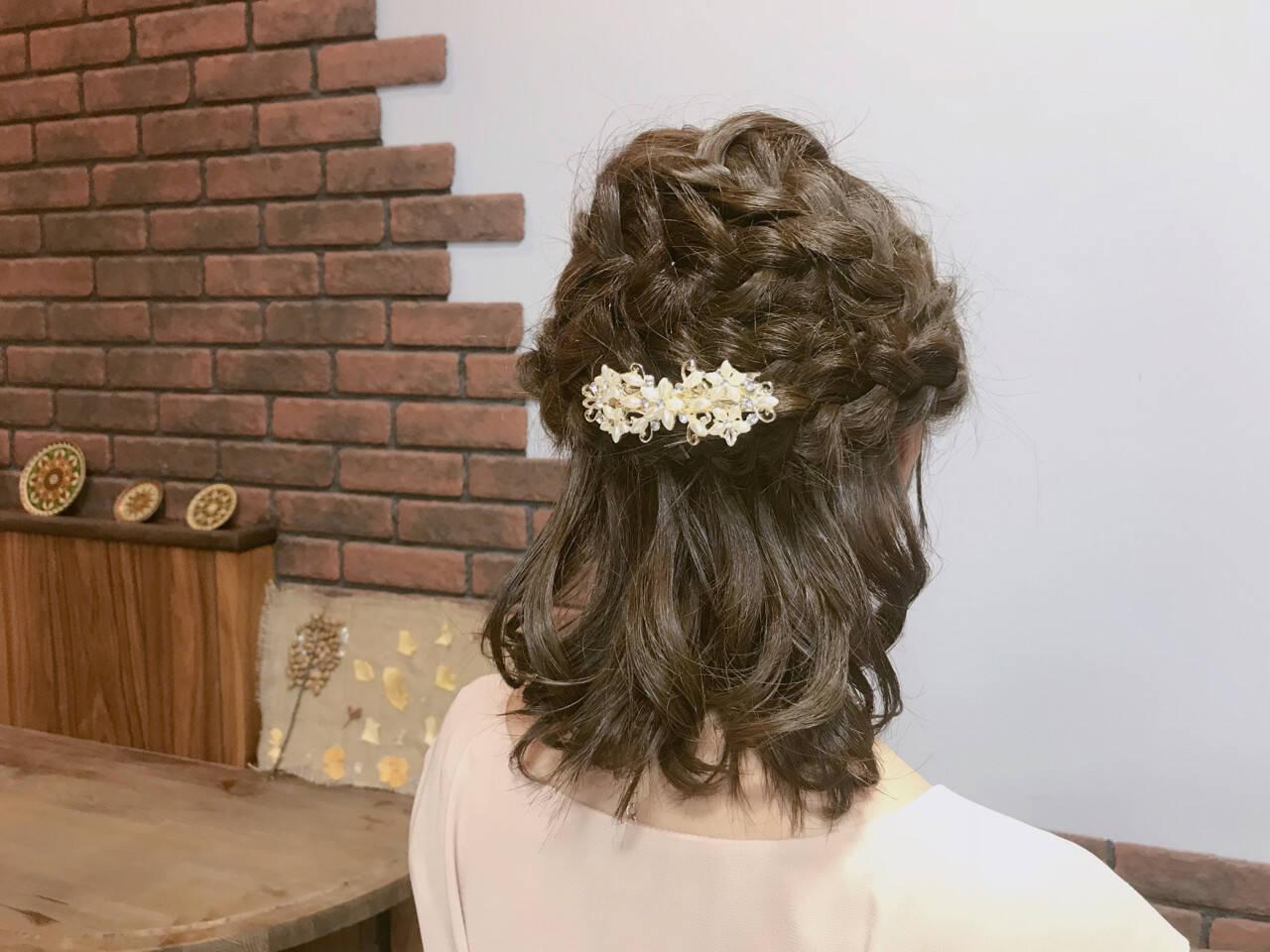 結婚式 フェミニン デート ヘアアレンジヘアスタイルや髪型の写真・画像