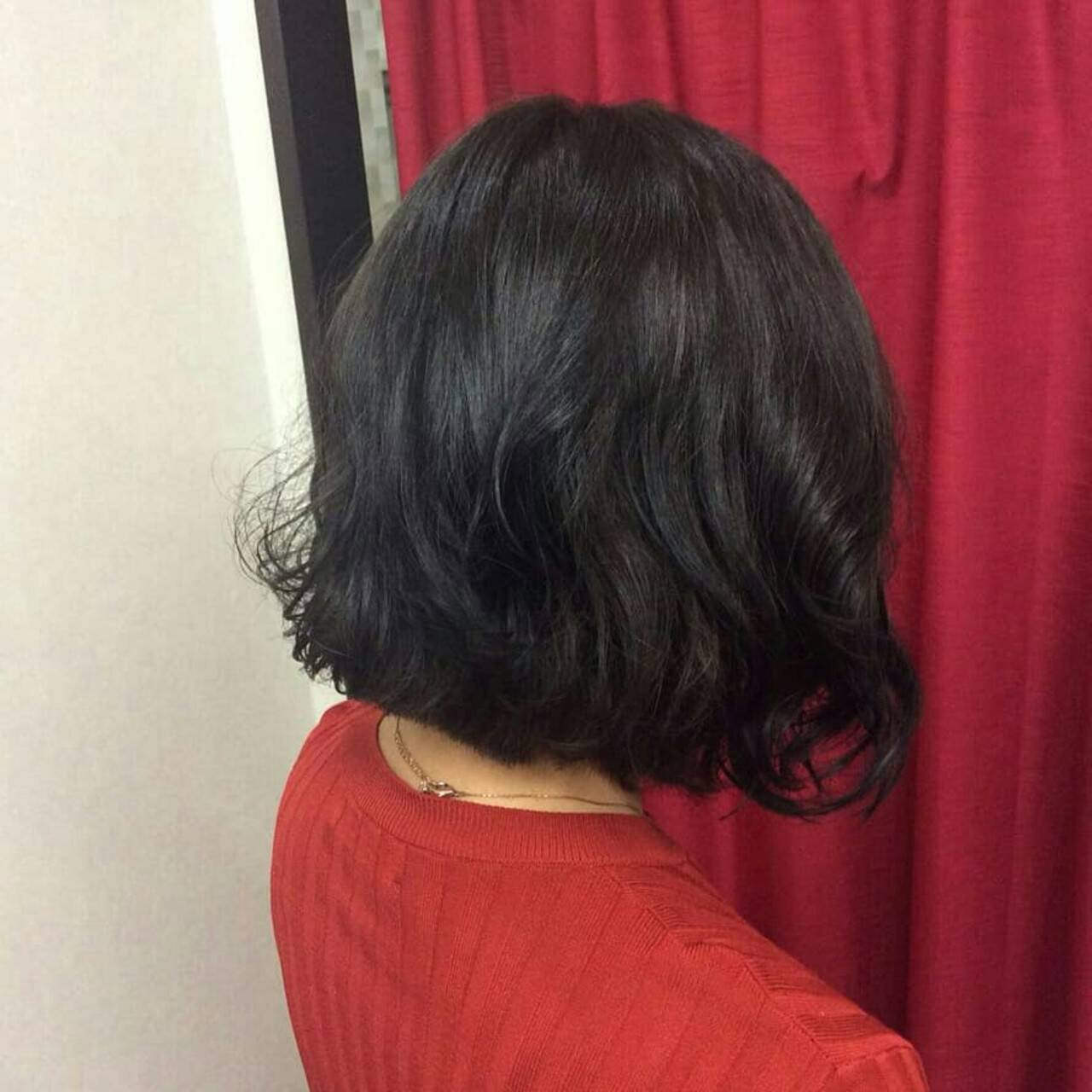 ナチュラル ボブ グレーアッシュ ボブヘアーヘアスタイルや髪型の写真・画像