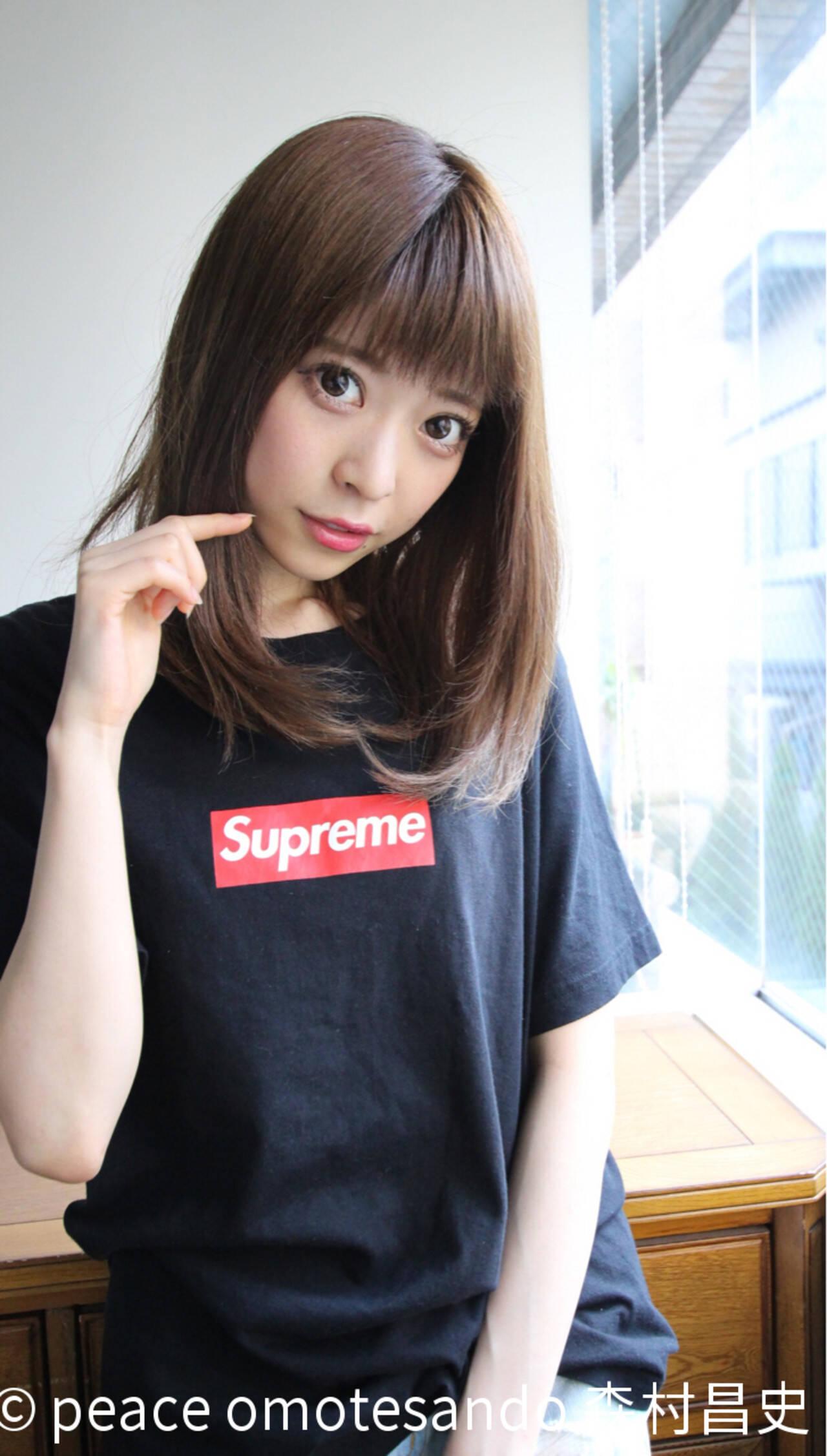 美シルエット ひし形 外国人風カラー フェミニンヘアスタイルや髪型の写真・画像