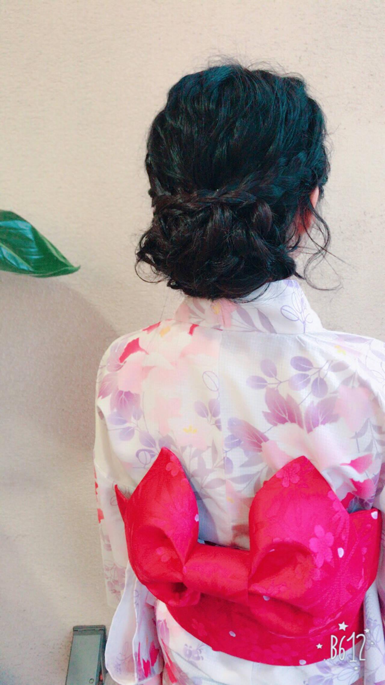 ガーリー 色気 花火大会 夏ヘアスタイルや髪型の写真・画像