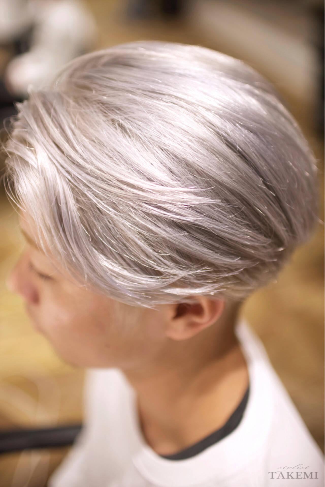 外国人風カラー ボーイッシュ メンズ ダブルカラーヘアスタイルや髪型の写真・画像