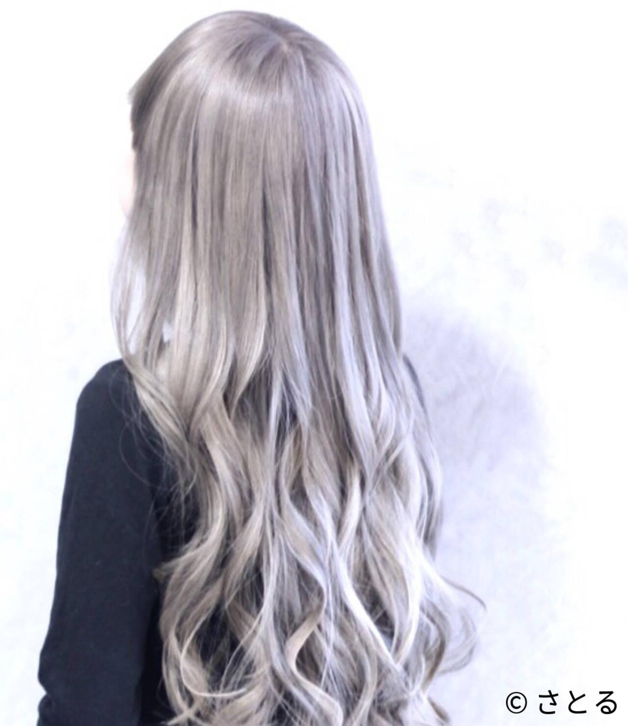 エレガント ハイトーン 上品 ロングヘアスタイルや髪型の写真・画像