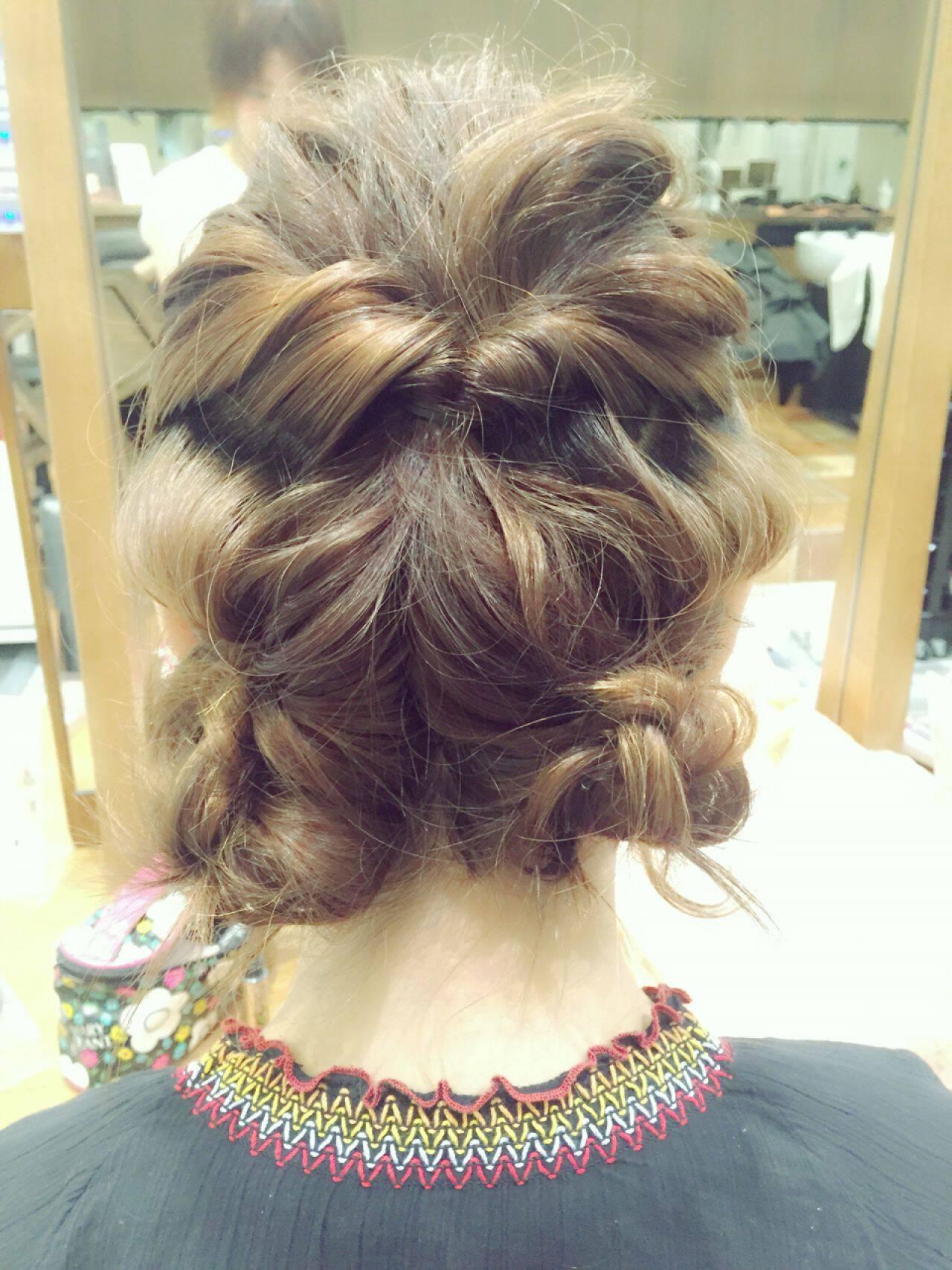 ヘアアレンジ ストリート 結婚式 簡単ヘアアレンジヘアスタイルや髪型の写真・画像