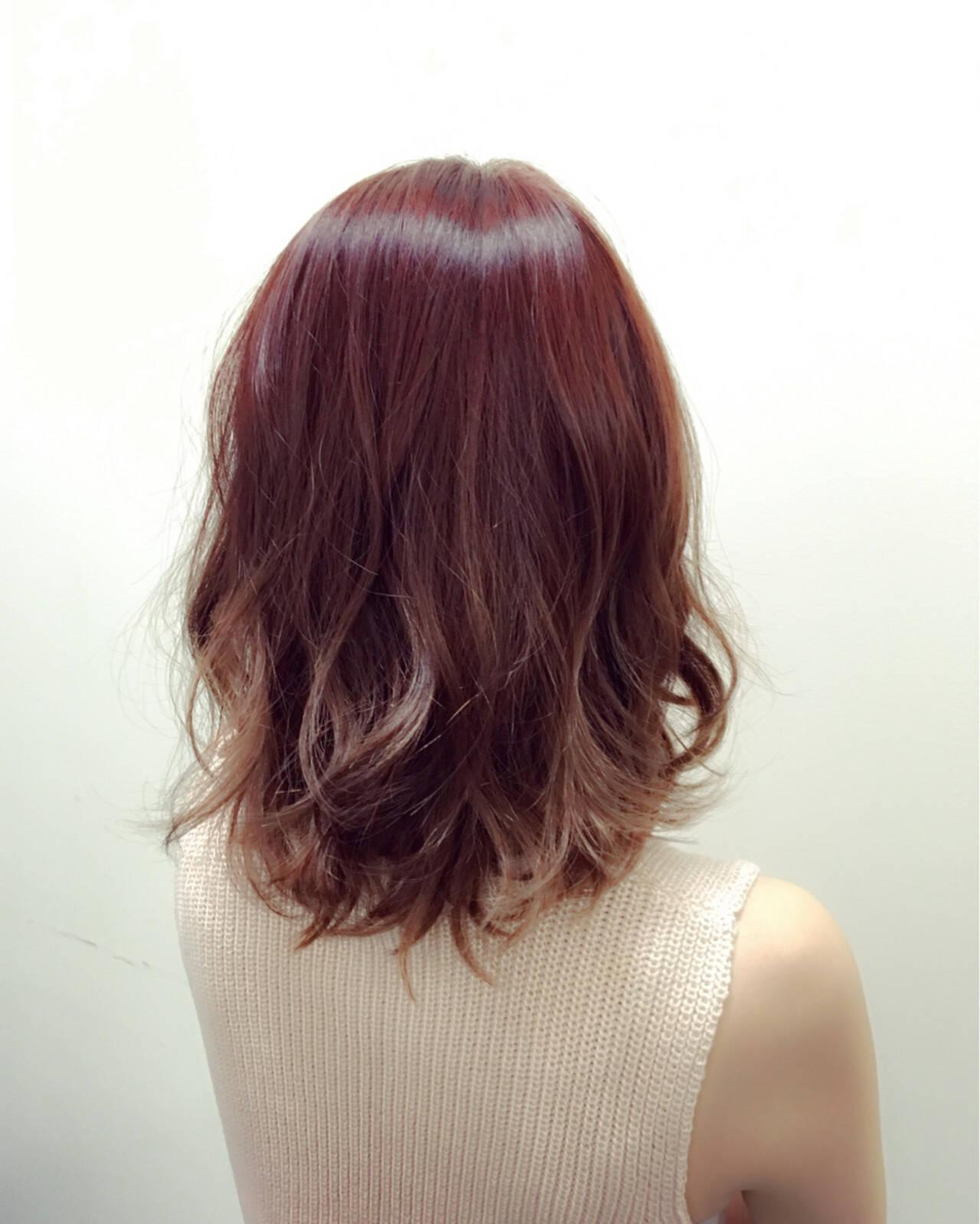 ミディアム ゆるふわ 艶髪 大人かわいいヘアスタイルや髪型の写真・画像