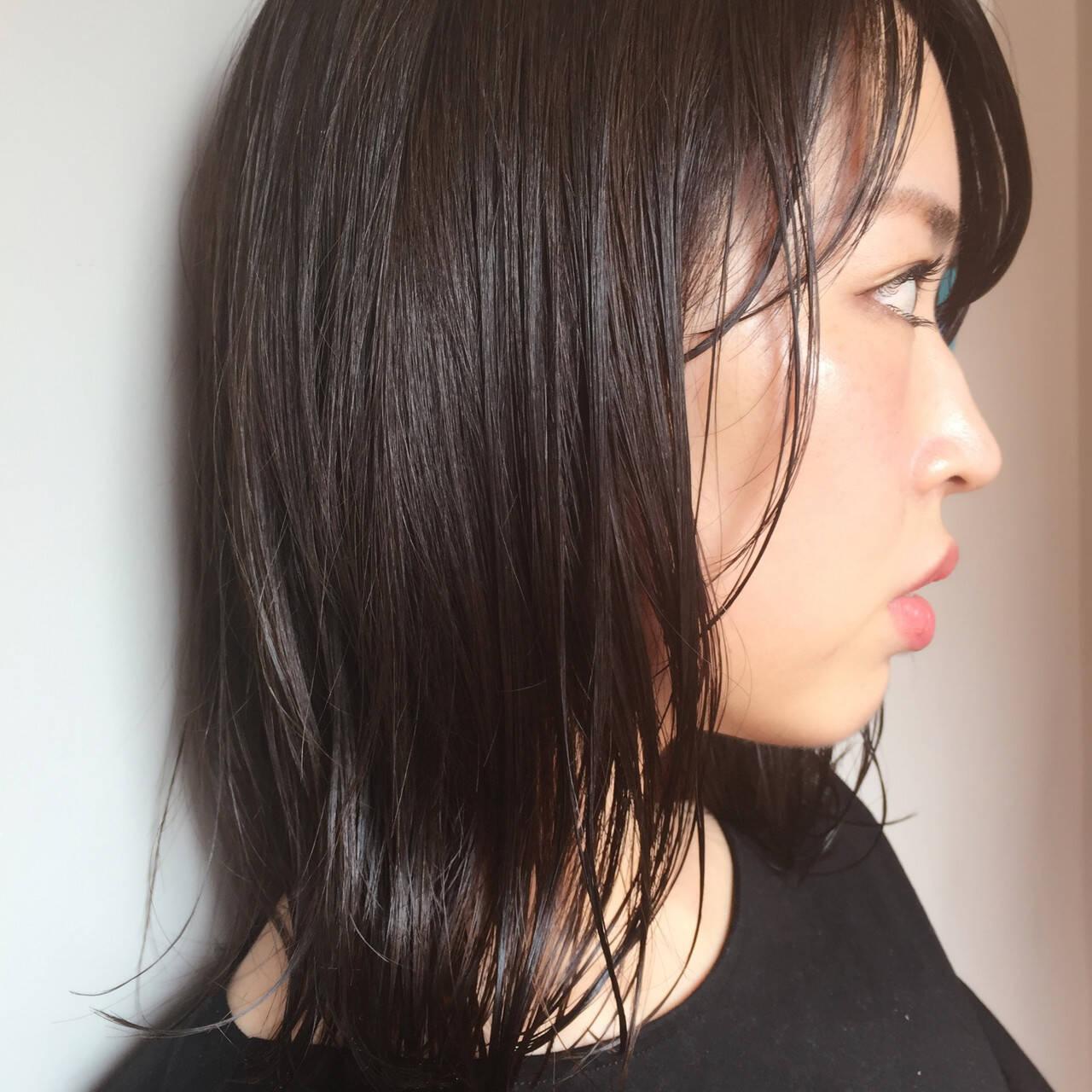 セミロング ボブ オフィス スポーツヘアスタイルや髪型の写真・画像