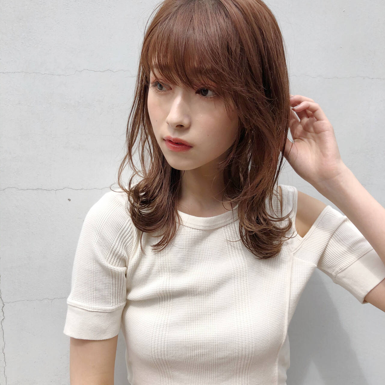 ワンカールスタイリング ナチュラル モテ髪 デートヘアスタイルや髪型の写真・画像