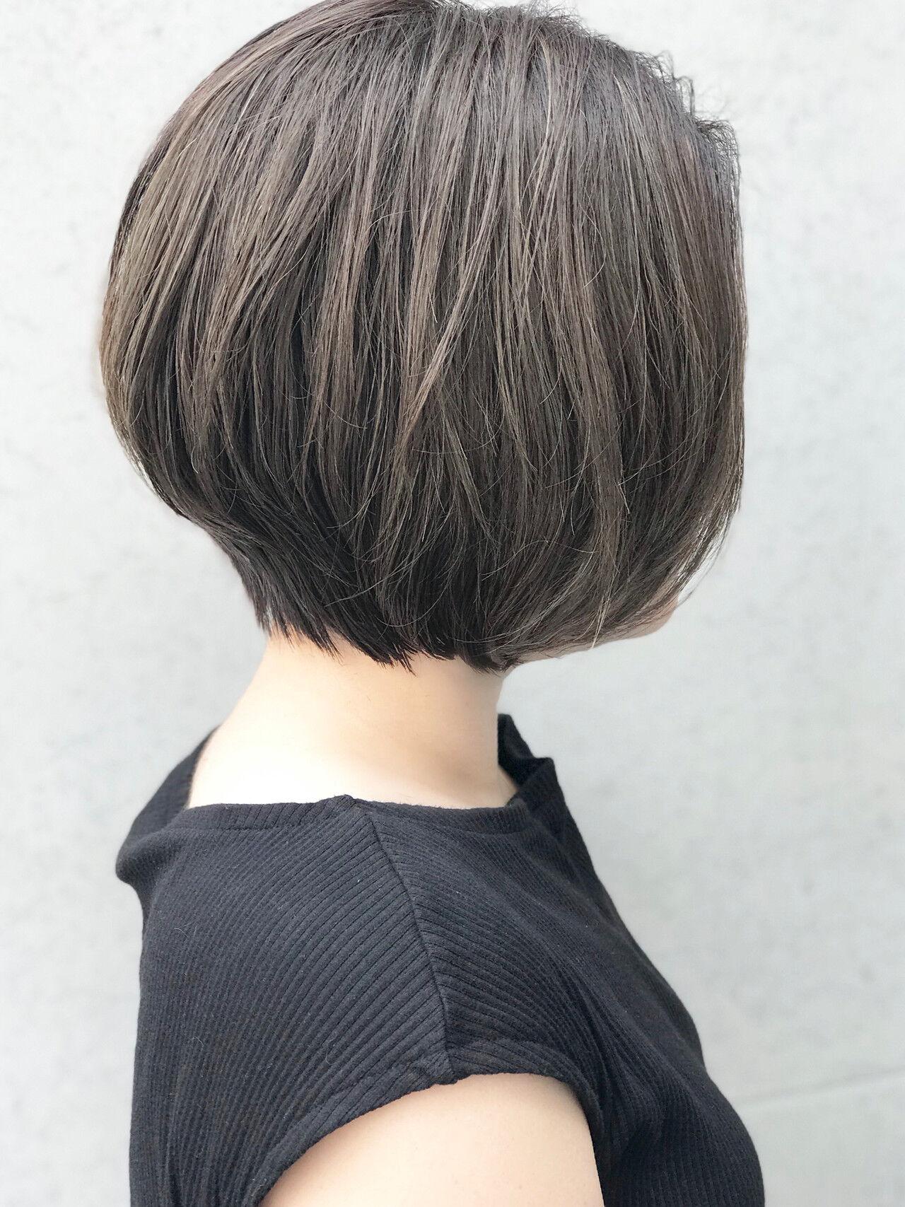 ショートボブ ショート コンサバ ショートヘアヘアスタイルや髪型の写真・画像