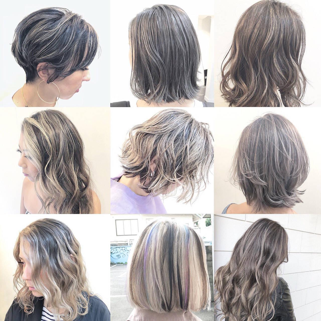 グラデーションカラー ストリート ハイライト スポーツヘアスタイルや髪型の写真・画像