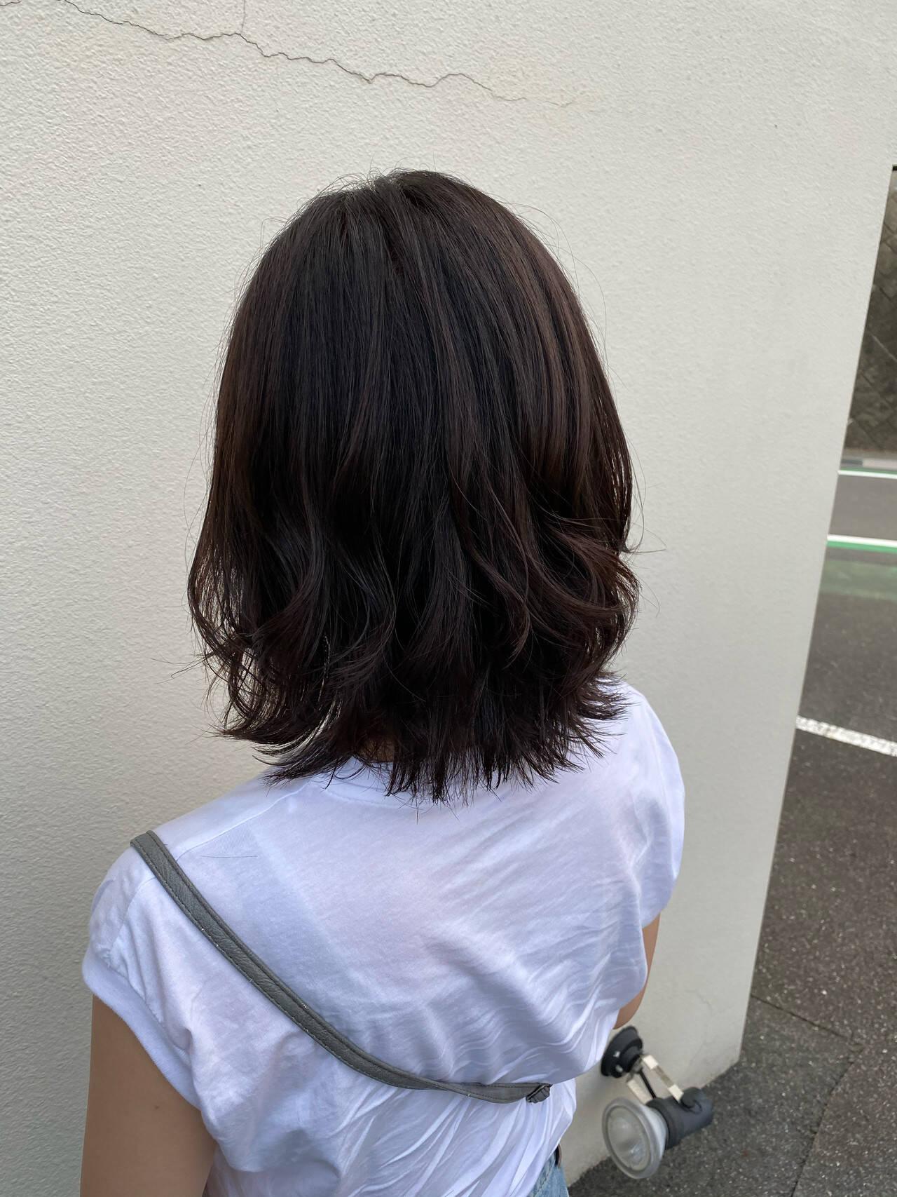 ベージュ レイヤーカット N.オイル ナチュラルヘアスタイルや髪型の写真・画像