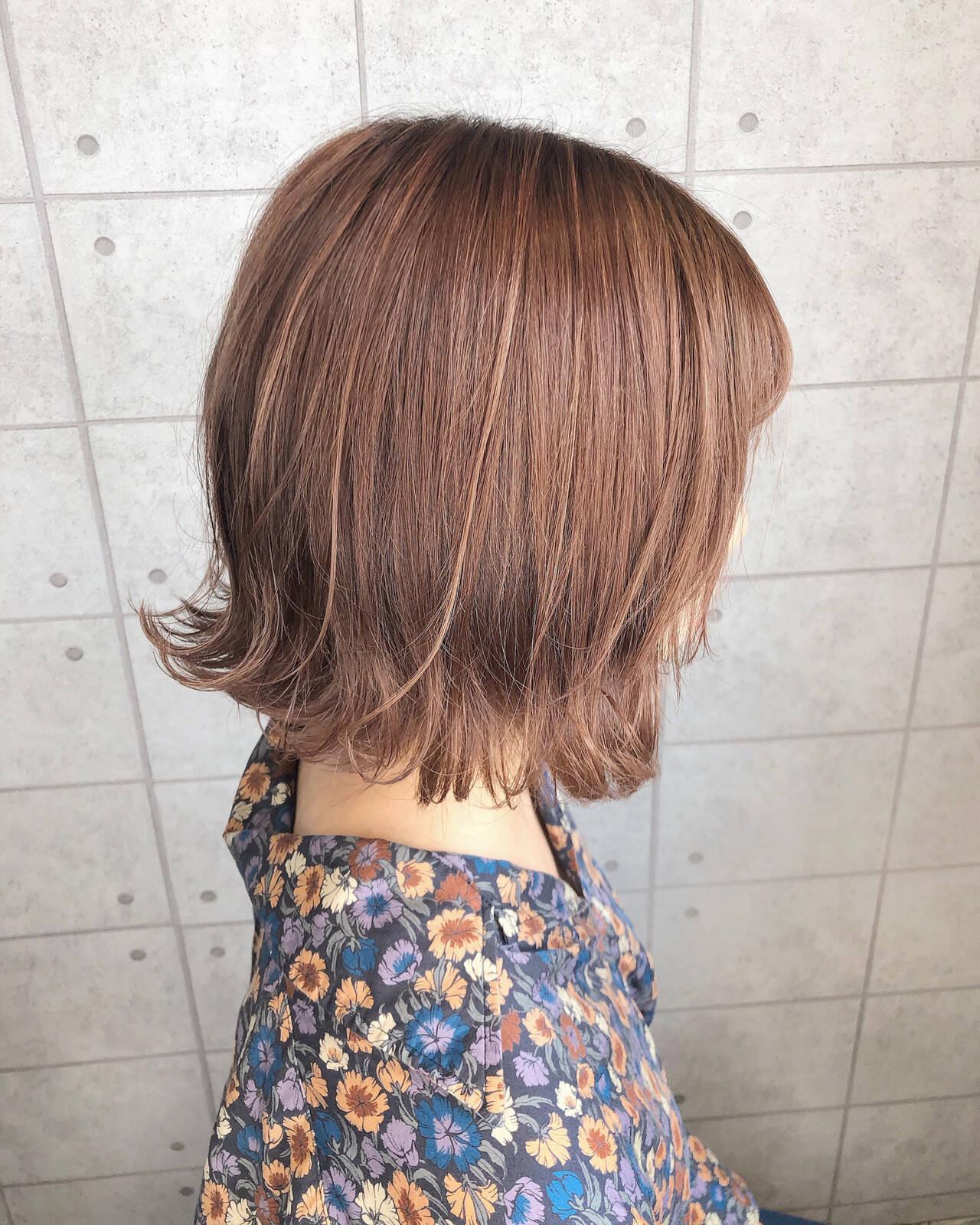 極細ハイライト イルミナカラー オレンジカラー ガーリーヘアスタイルや髪型の写真・画像