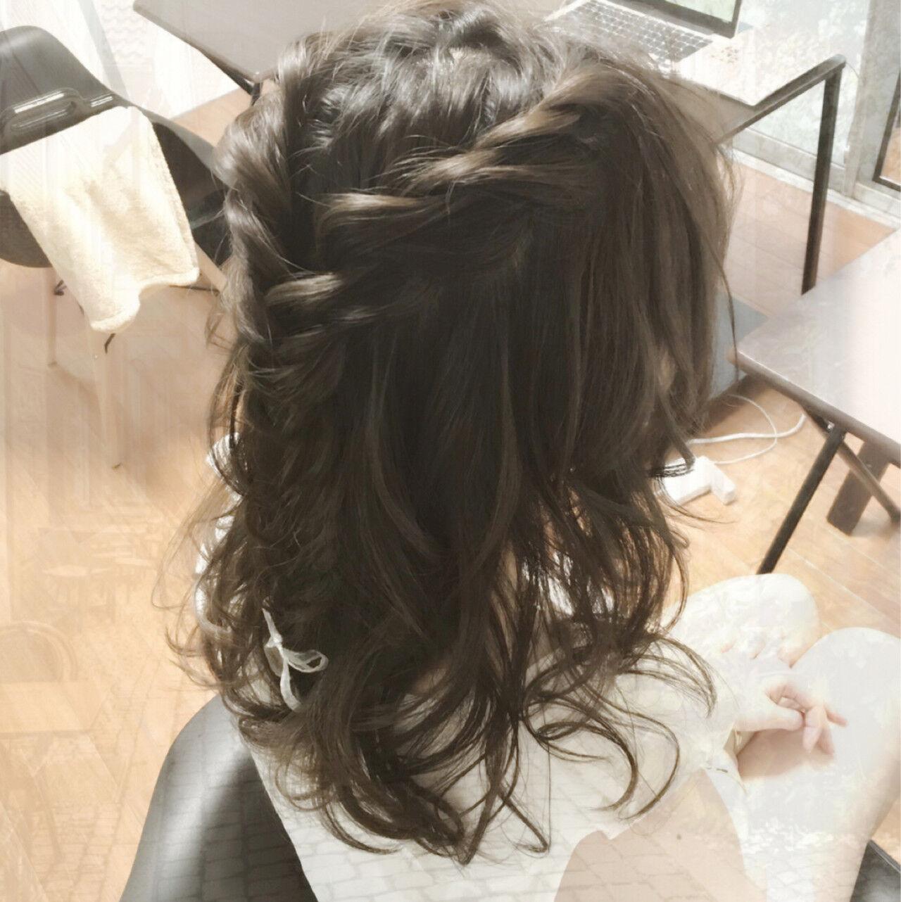 デート フェミニン ヘアアレンジ ショートヘアスタイルや髪型の写真・画像