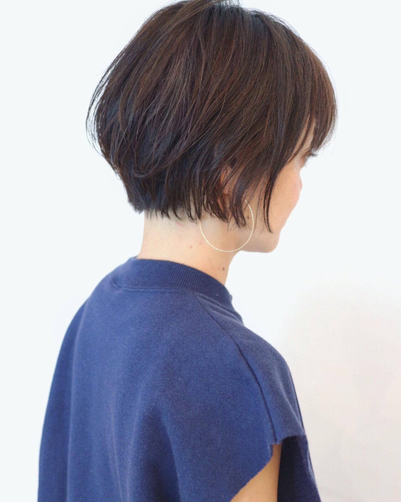 ショートボブ ショート 色気 ストリートヘアスタイルや髪型の写真・画像