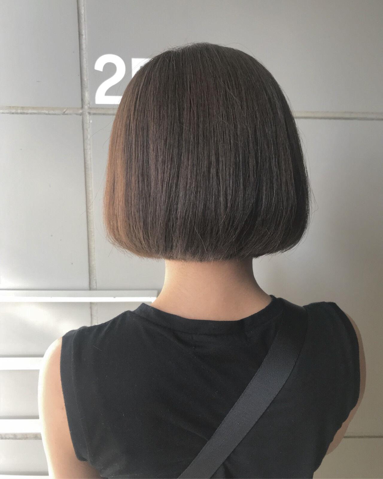 フェミニン ヘアアレンジ ボブ ワンレングスヘアスタイルや髪型の写真・画像