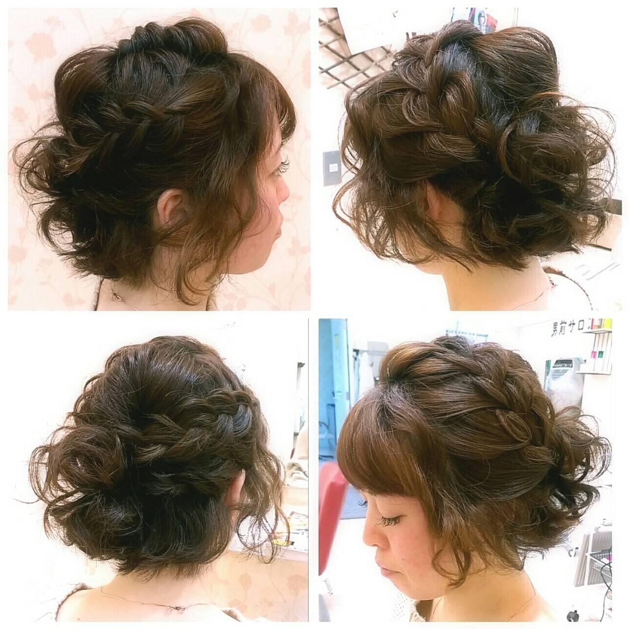 ショート ガーリー パーティ ヘアアレンジヘアスタイルや髪型の写真・画像