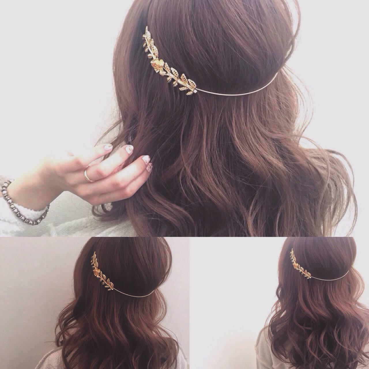 外国人風 カチューシャ 簡単ヘアアレンジ 愛されヘアスタイルや髪型の写真・画像