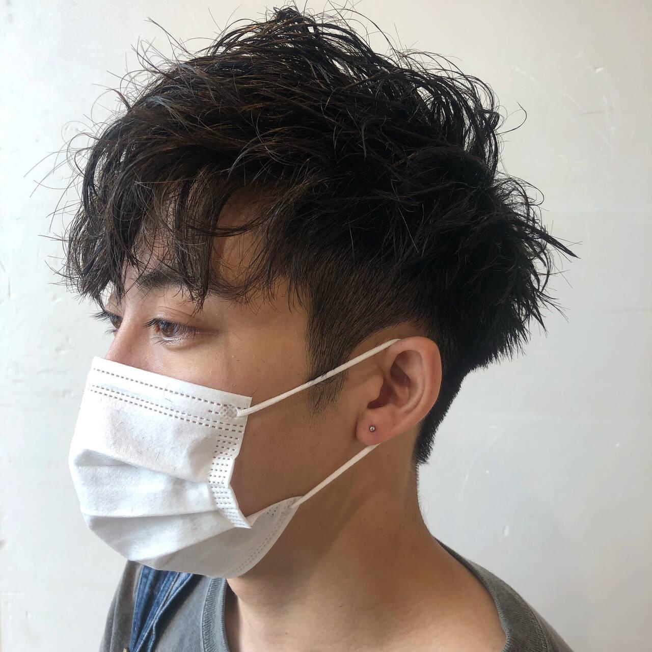 メンズヘア ストリート スパイラルパーマ ツイストヘアスタイルや髪型の写真・画像