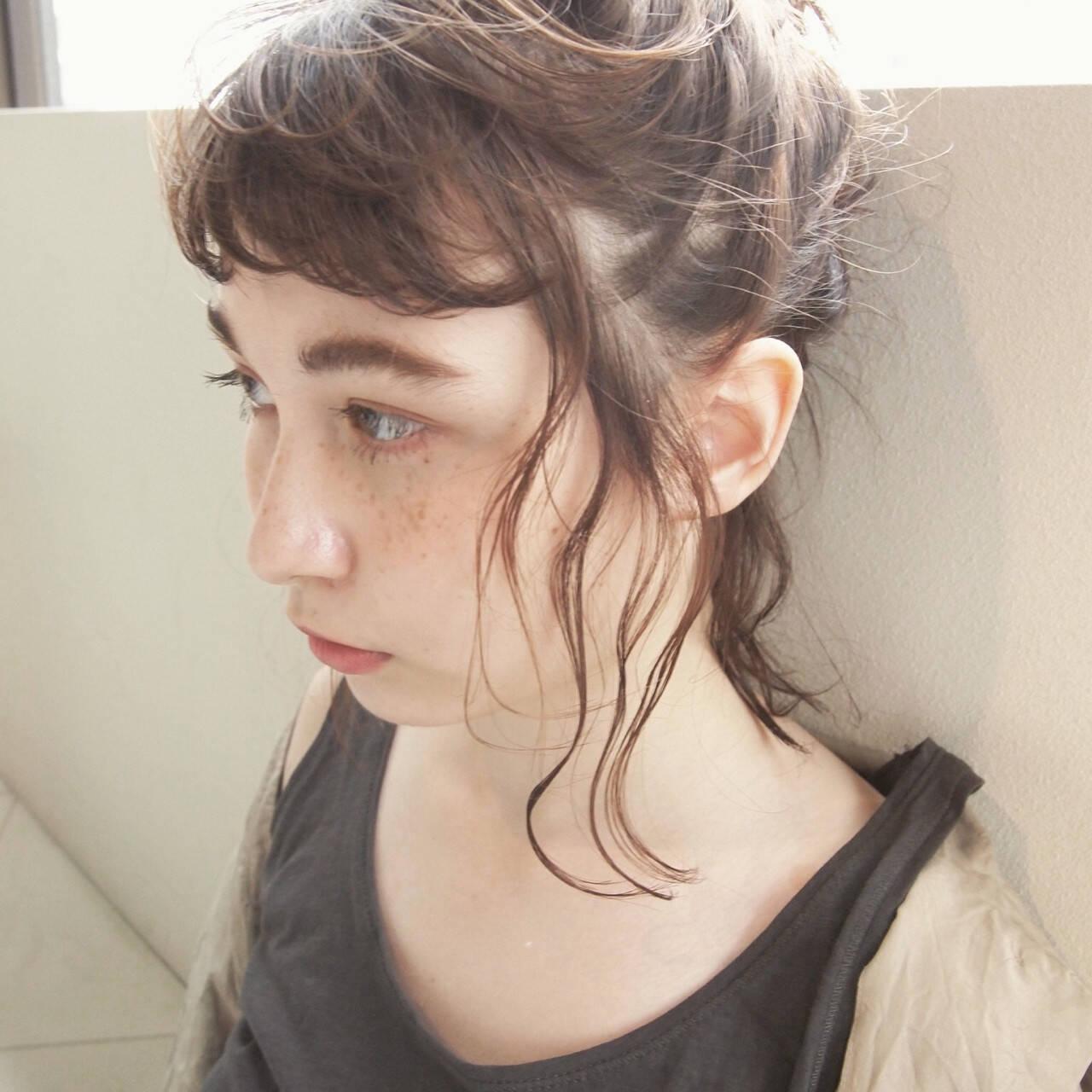 ショート 外国人風 パーマ 簡単ヘアアレンジヘアスタイルや髪型の写真・画像