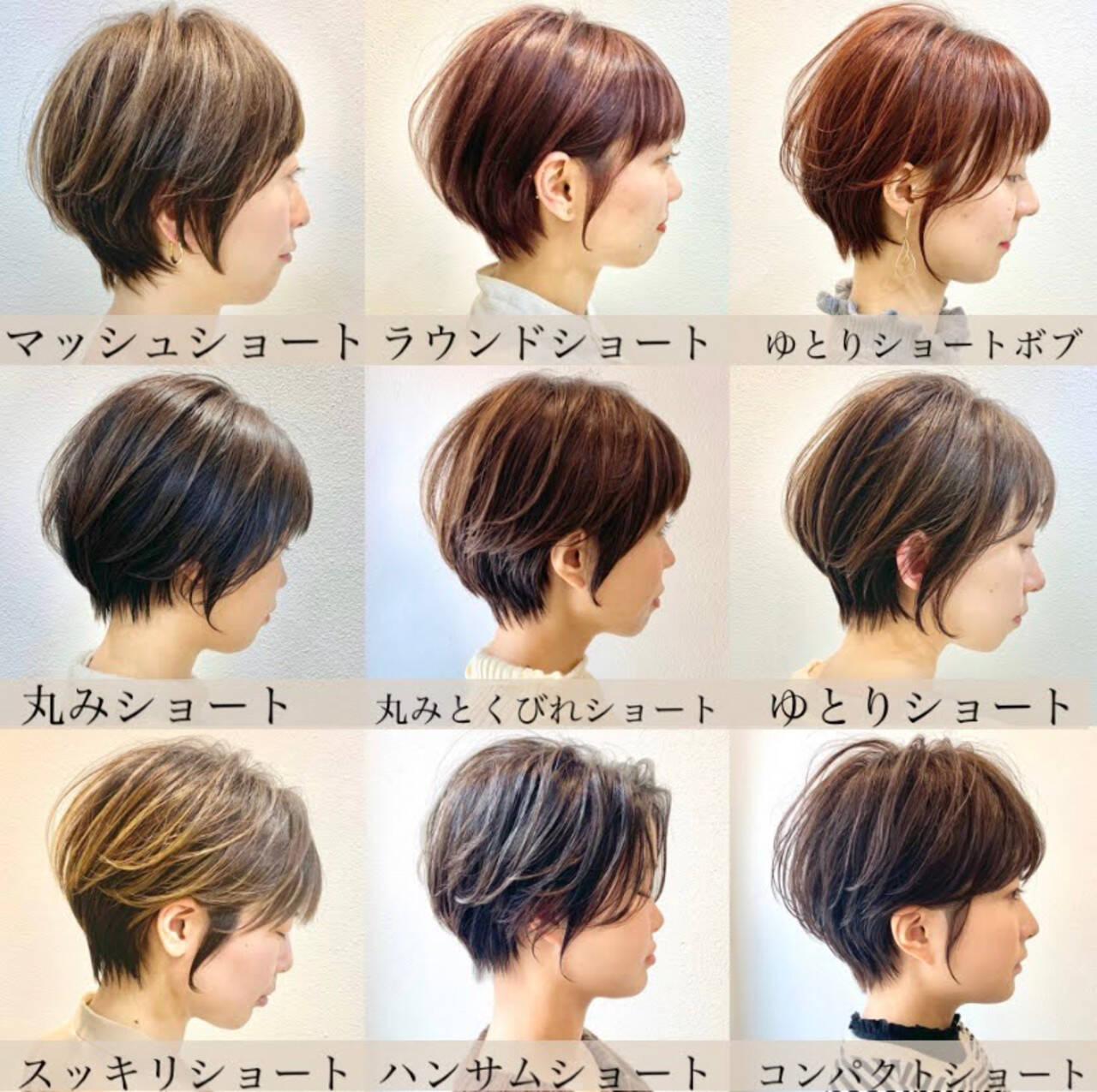 ショートボブ 切りっぱなしボブ ナチュラル ショートヘアヘアスタイルや髪型の写真・画像