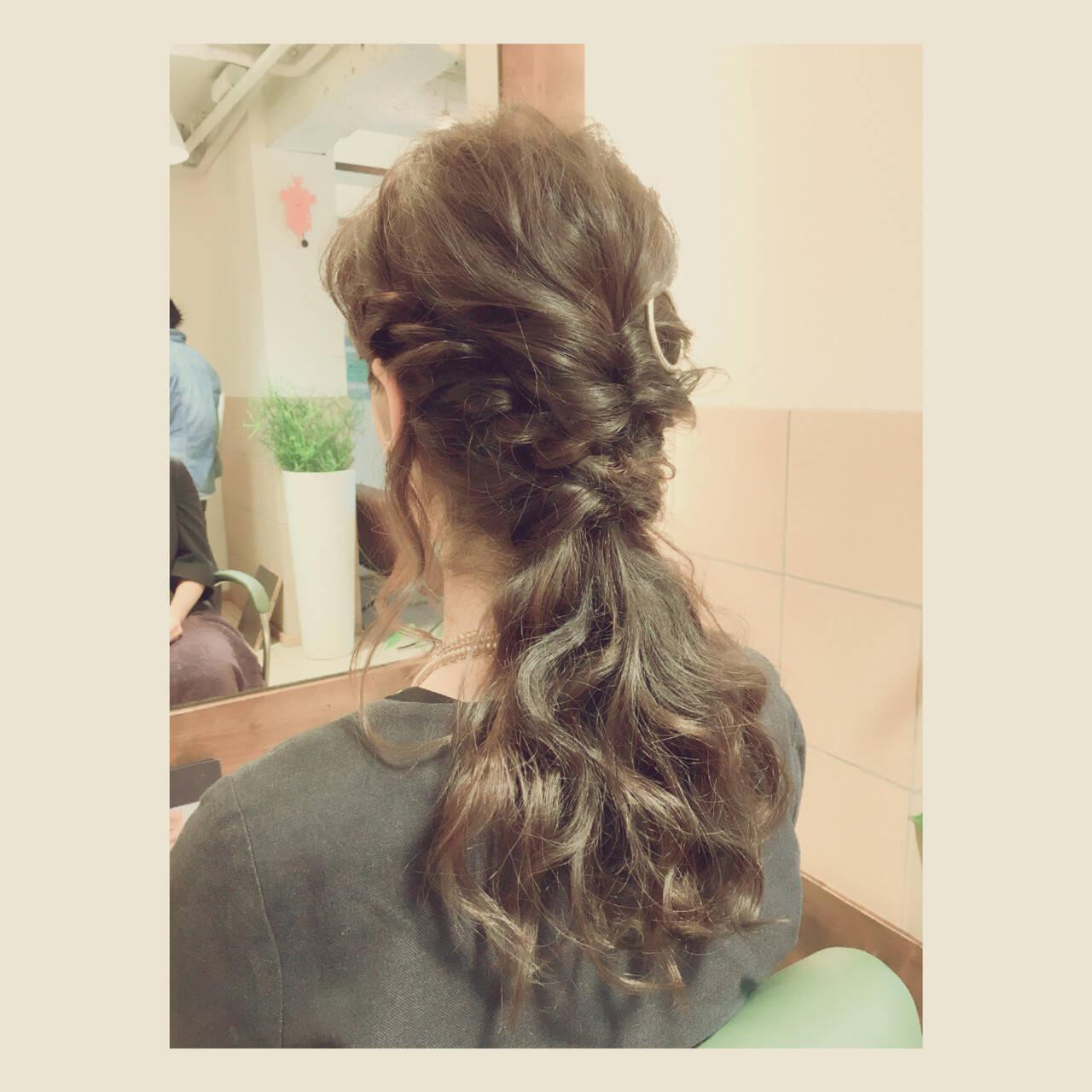 ヘアアレンジ ハーフアップ 大人女子 ロングヘアスタイルや髪型の写真・画像