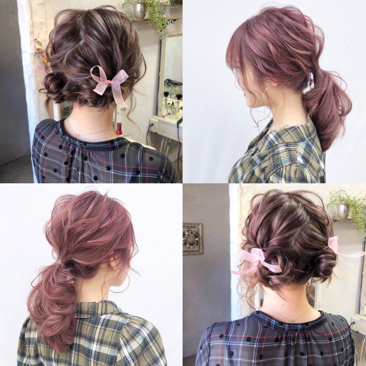 大人かわいい ヘアアレンジ ローポニーテール 簡単ヘアアレンジヘアスタイルや髪型の写真・画像