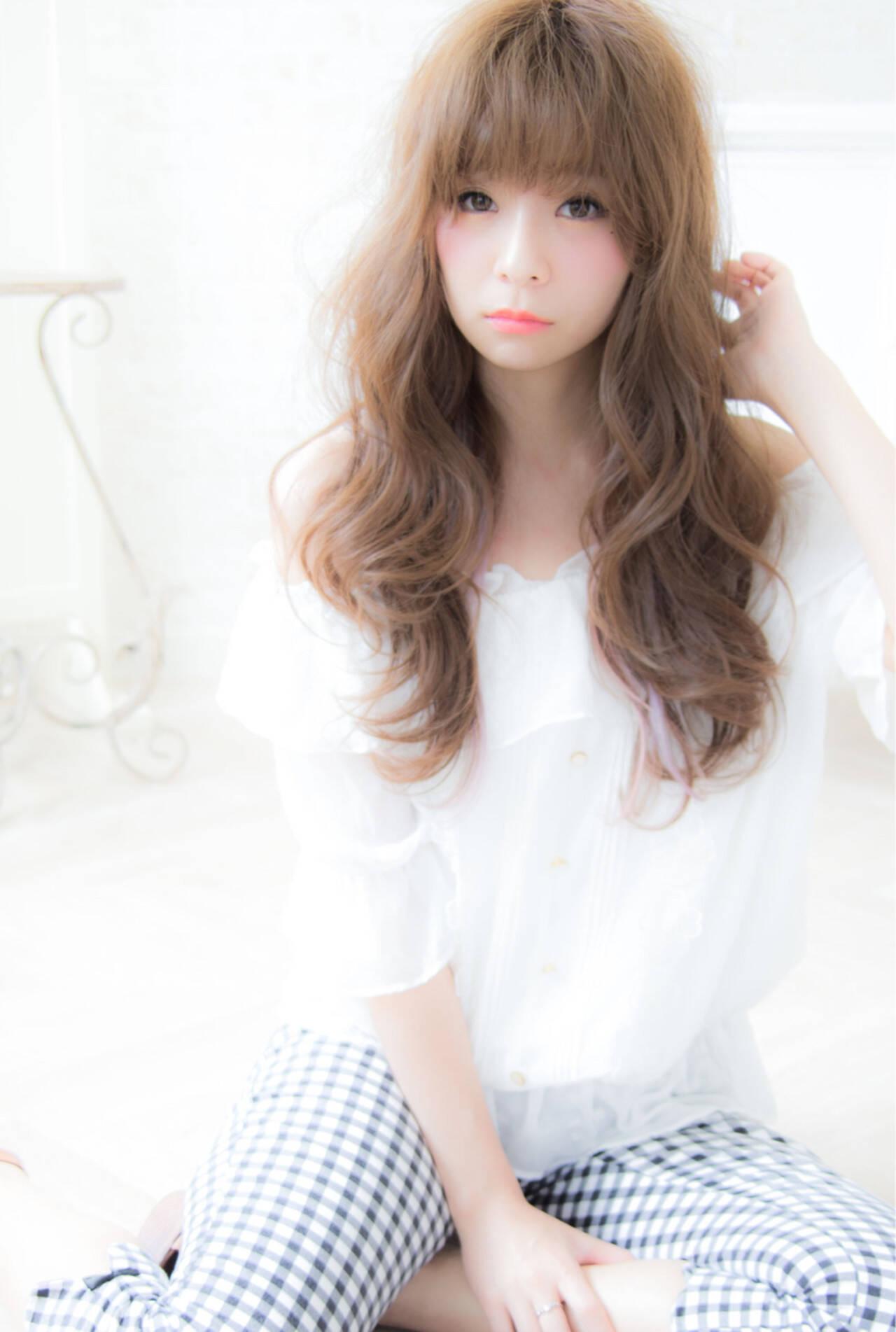 セミロング ナチュラル ゆるふわ 大人かわいいヘアスタイルや髪型の写真・画像