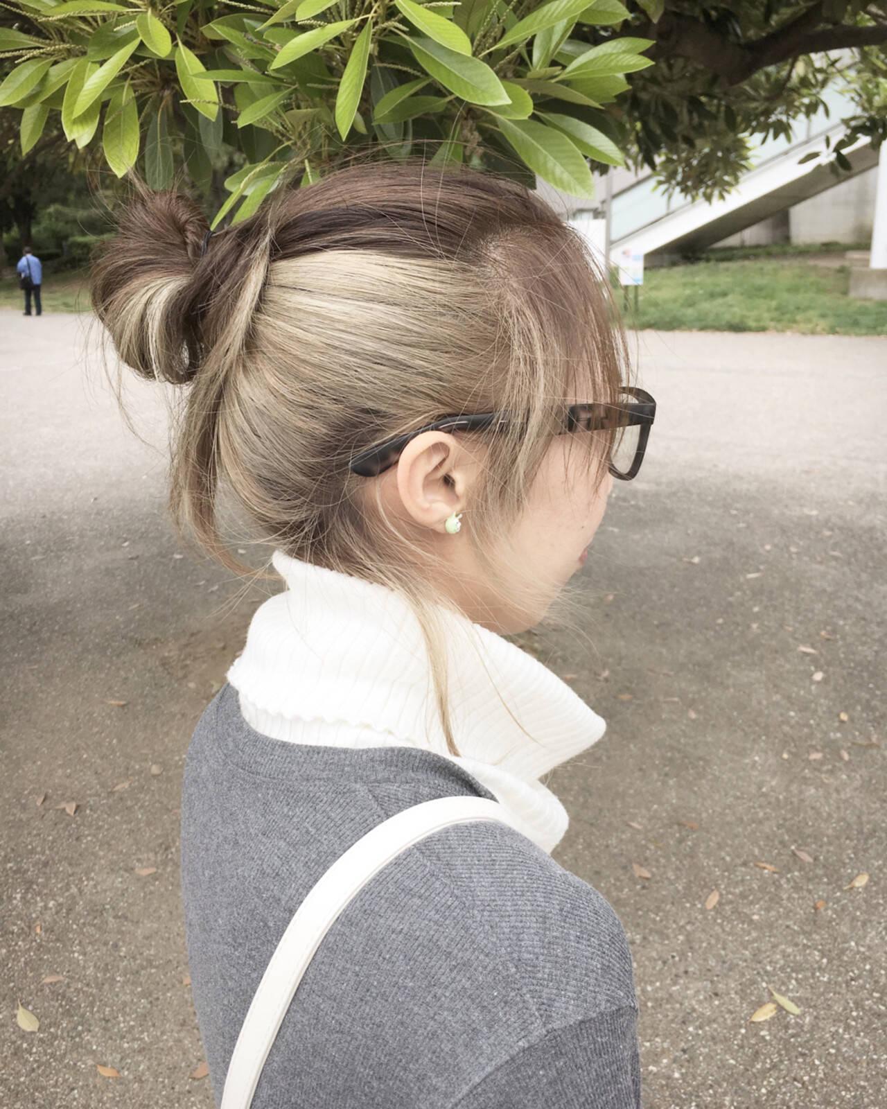 アッシュ ストリート ヘアアレンジ イルミナカラーヘアスタイルや髪型の写真・画像