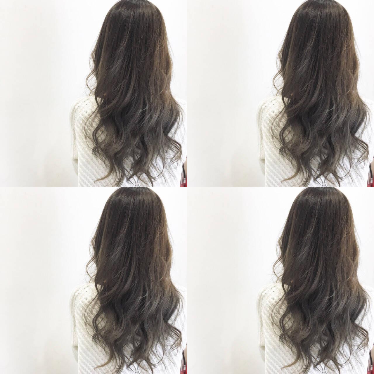 外国人風 ナチュラル グラデーションカラー ハイライトヘアスタイルや髪型の写真・画像