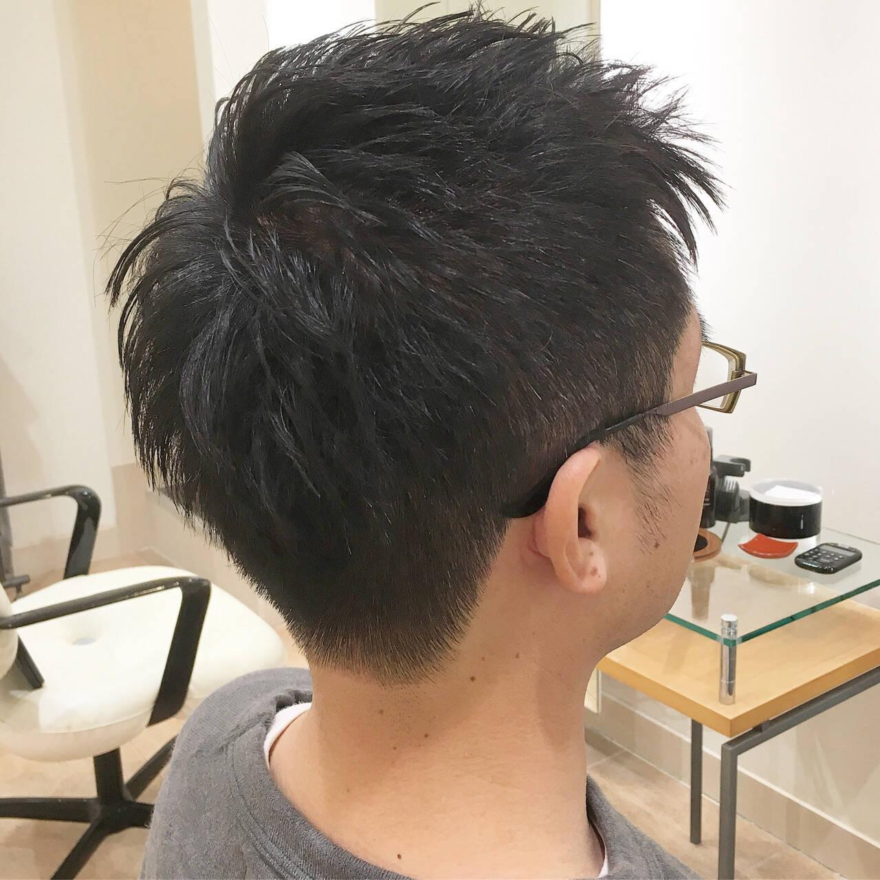 刈り上げ ツーブロック メンズカット ショートヘアスタイルや髪型の写真・画像