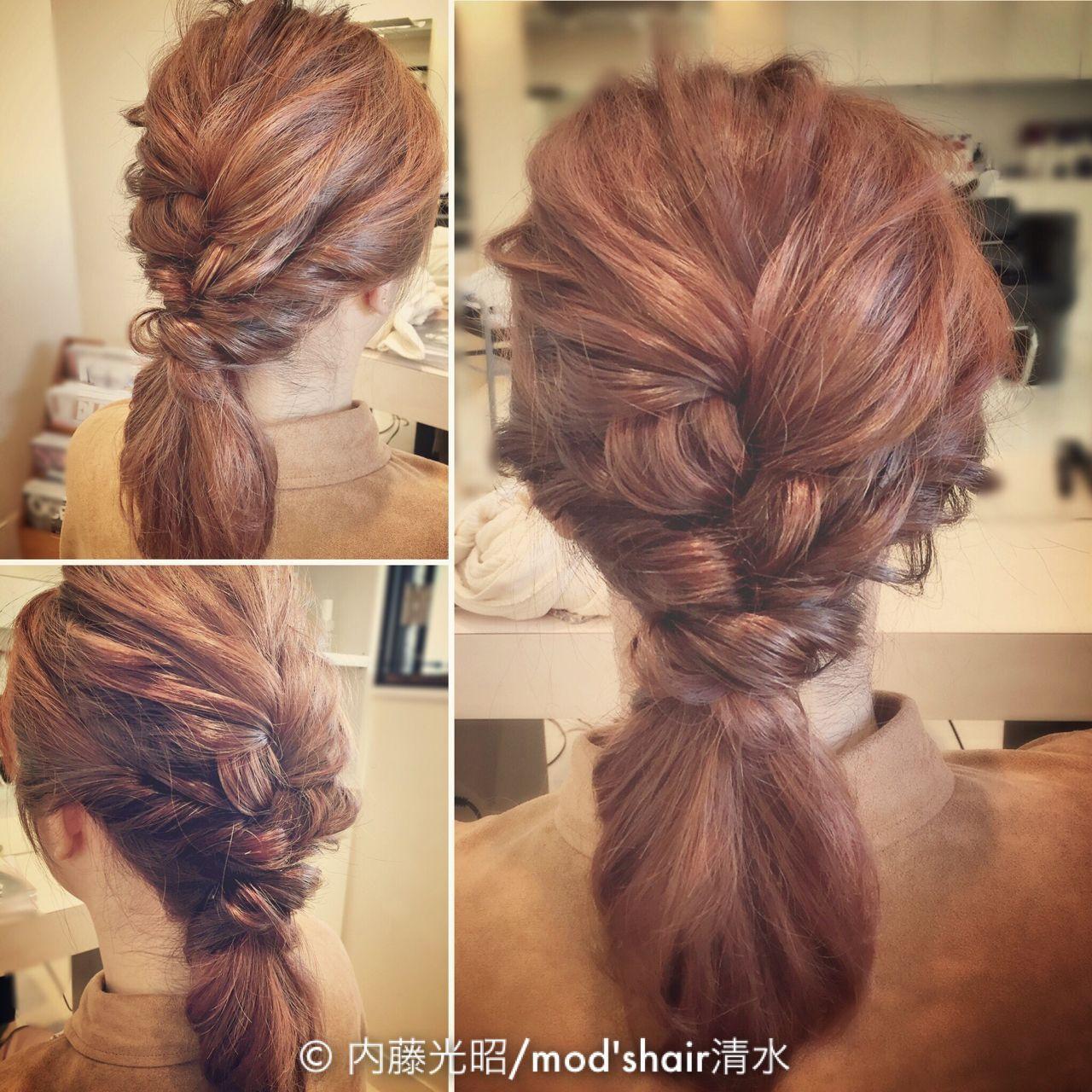 セミロング 結婚式 パーティ ヘアアレンジヘアスタイルや髪型の写真・画像