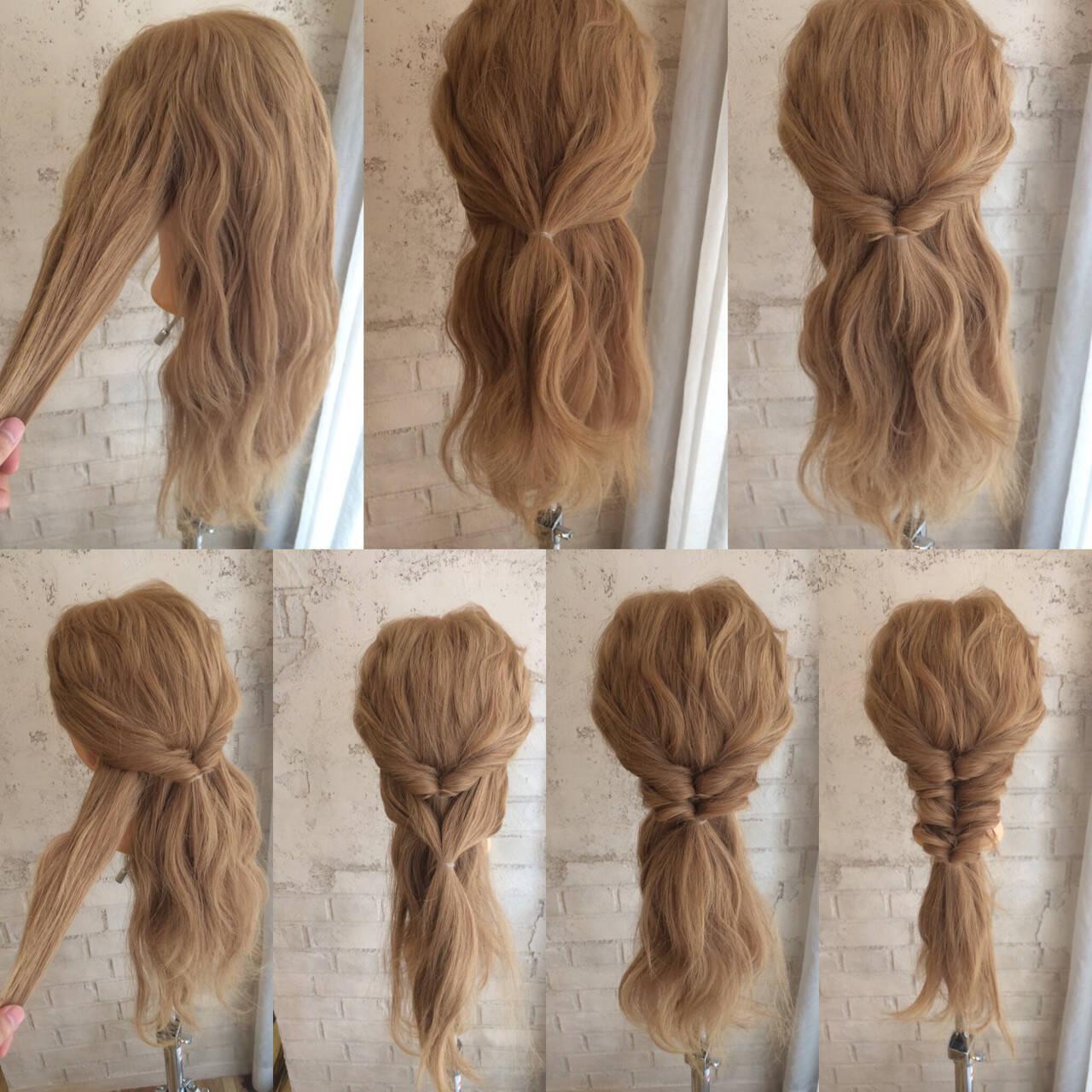 ショート ロング ハーフアップ ハイライトヘアスタイルや髪型の写真・画像