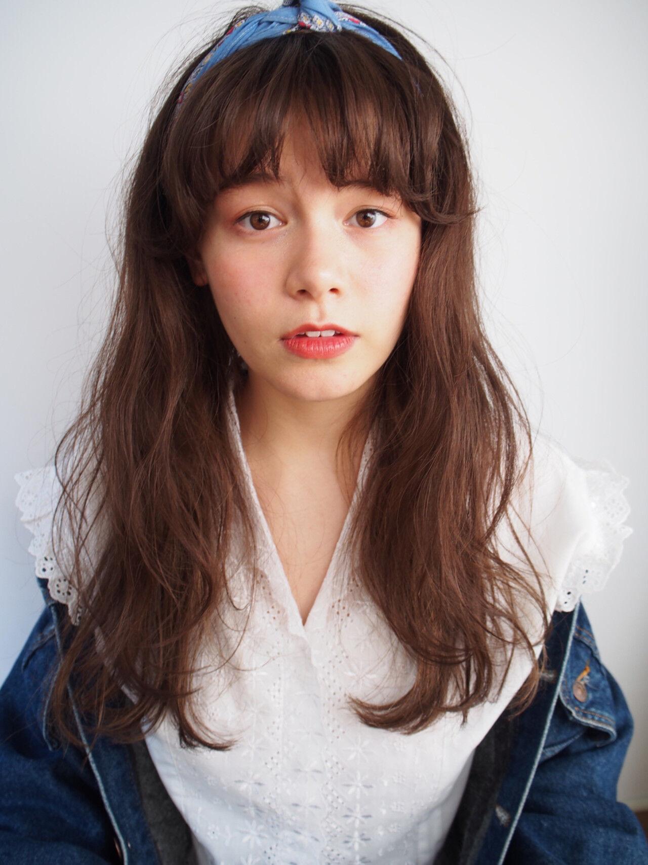 アッシュ 外国人風 ハイライト ヘアアレンジヘアスタイルや髪型の写真・画像