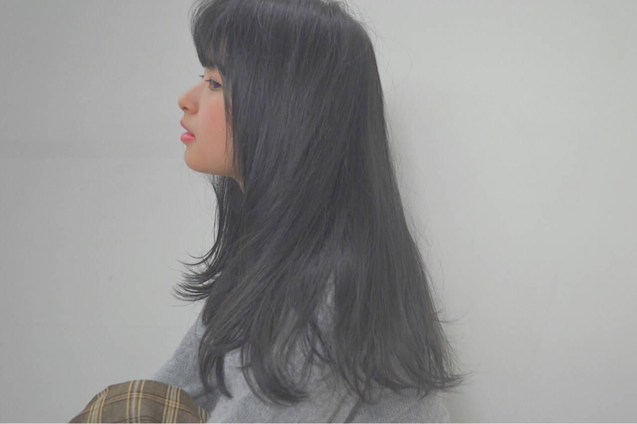 ロング 冬 アッシュ 秋ヘアスタイルや髪型の写真・画像