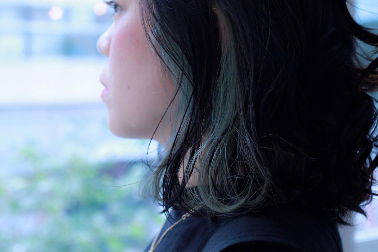 大人女子 ボブ ミディアム ストリートヘアスタイルや髪型の写真・画像