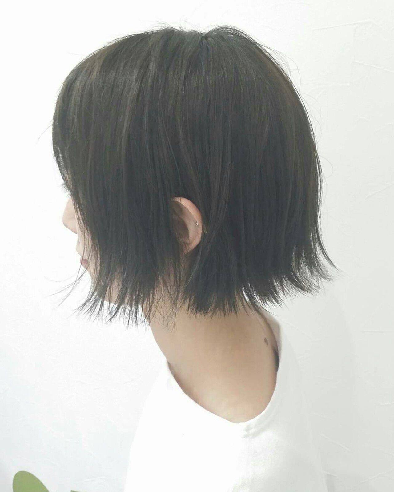 モード ボブ 色気 リラックスヘアスタイルや髪型の写真・画像