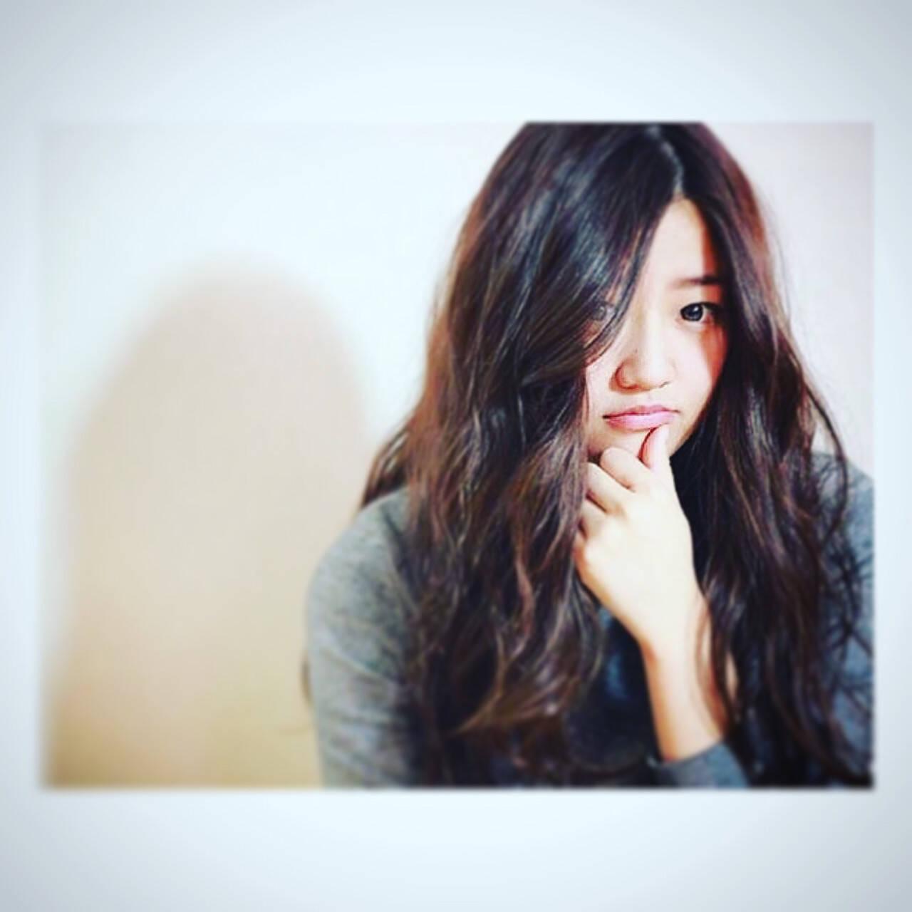 外国人風 大人かわいい フェミニン ロングヘアスタイルや髪型の写真・画像