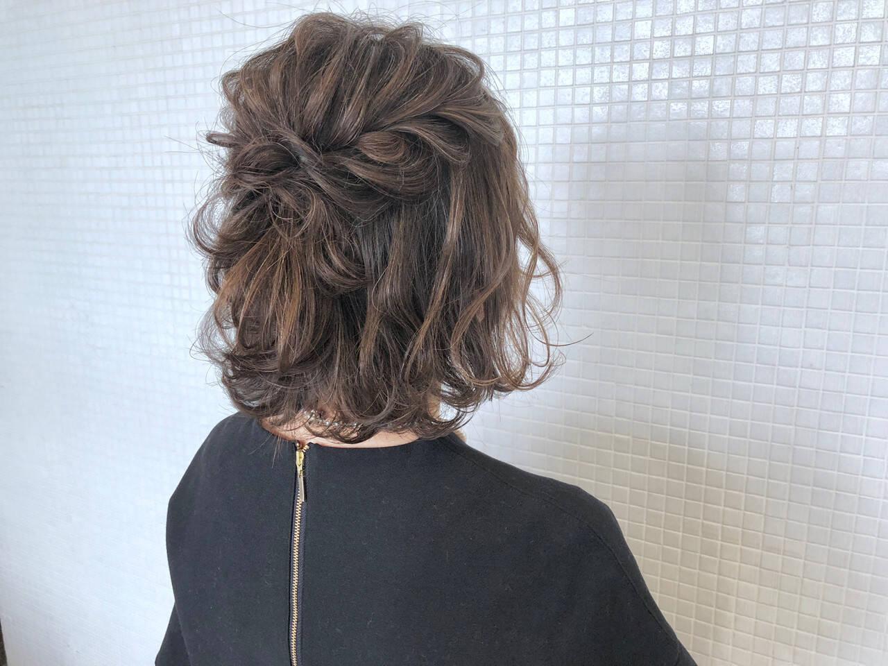 ヘアアレンジ ナチュラル 結婚式 ハーフアップヘアスタイルや髪型の写真・画像
